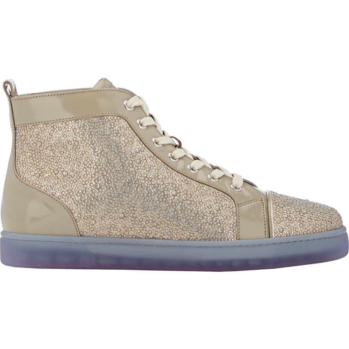 0af313bc0a9e Lyst - Christian Louboutin Louis Crystal-Embellished High-Top ...
