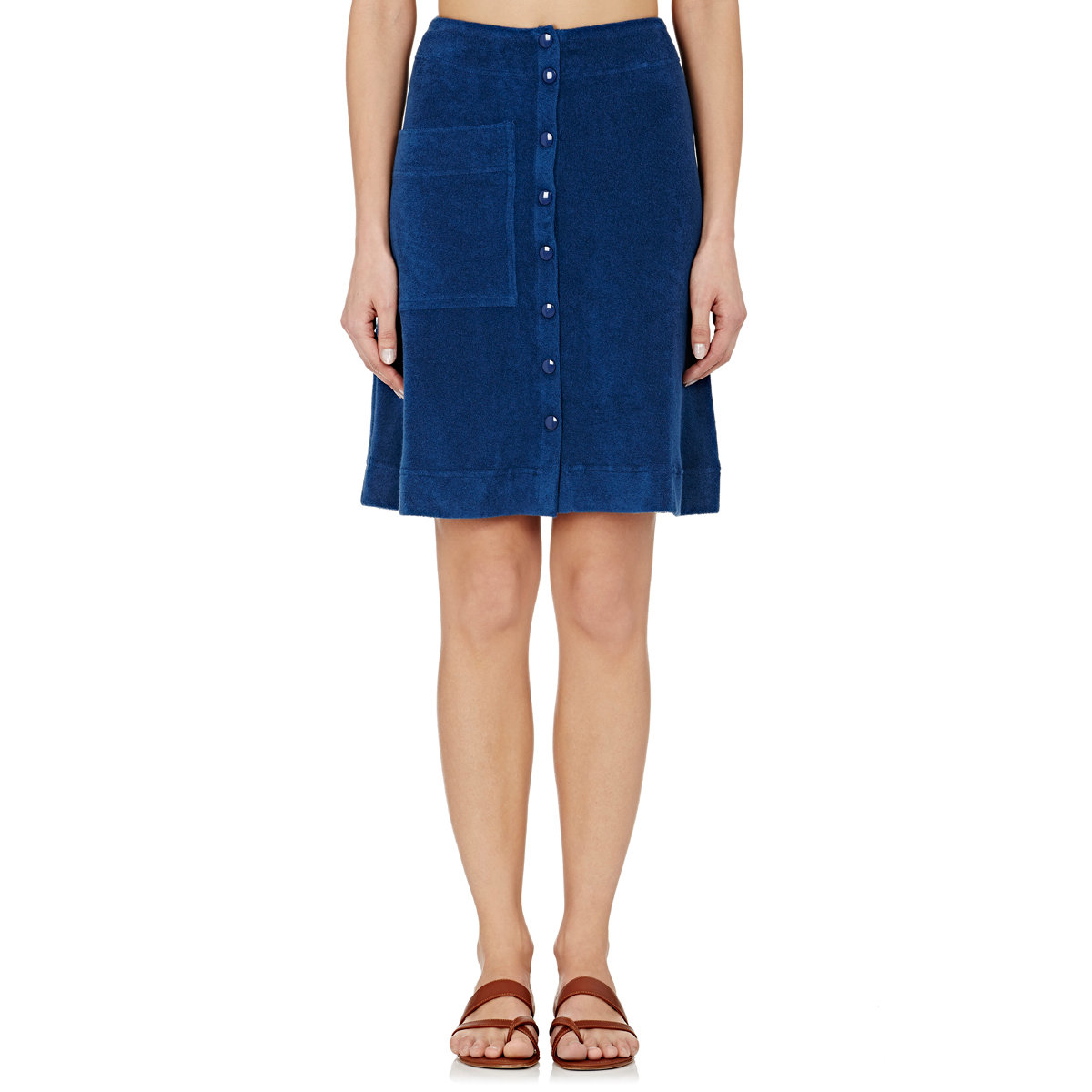 eres terry flared skirt in blue lyst