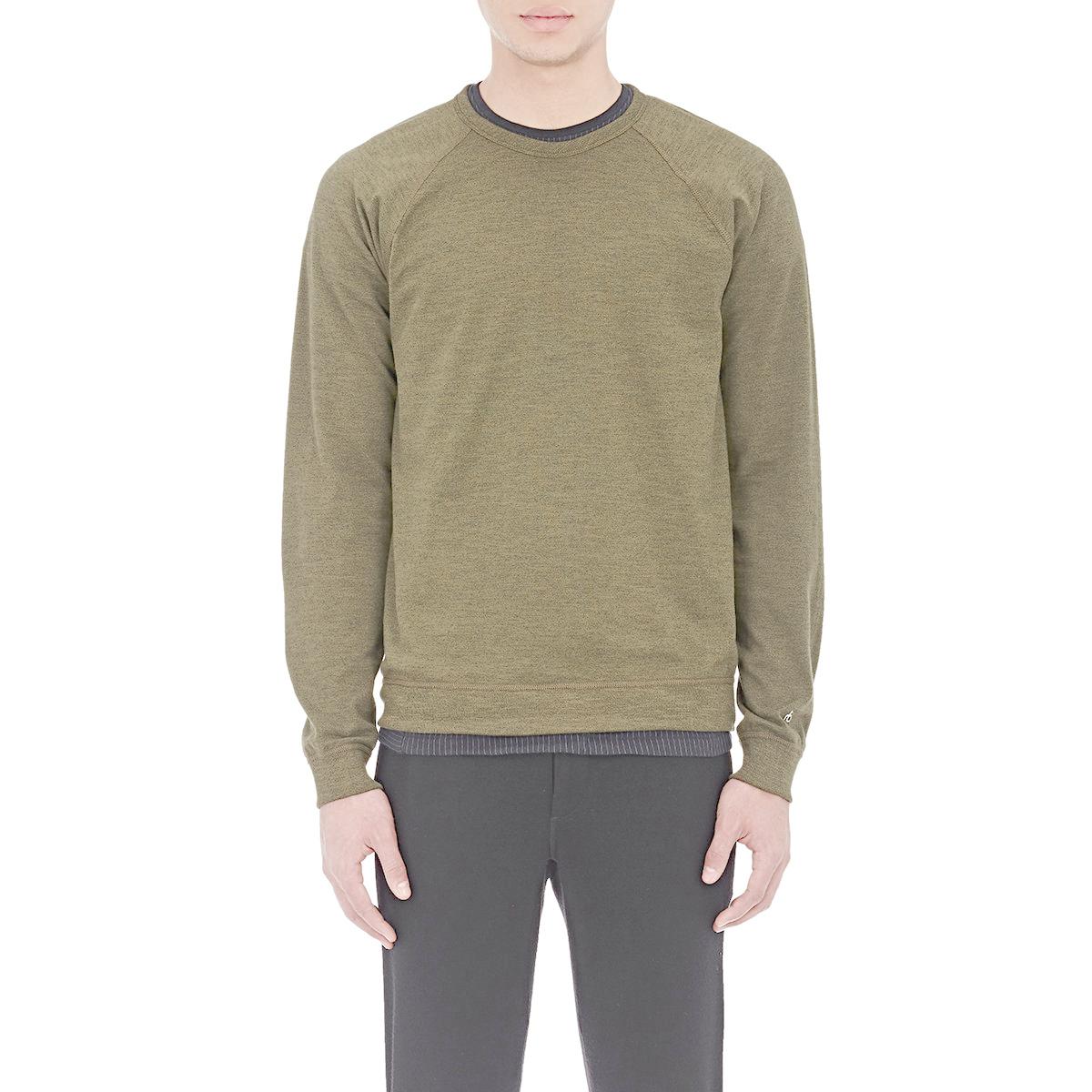Rag bone long sleeve t shirt in green for men lyst for Rag bone shirt