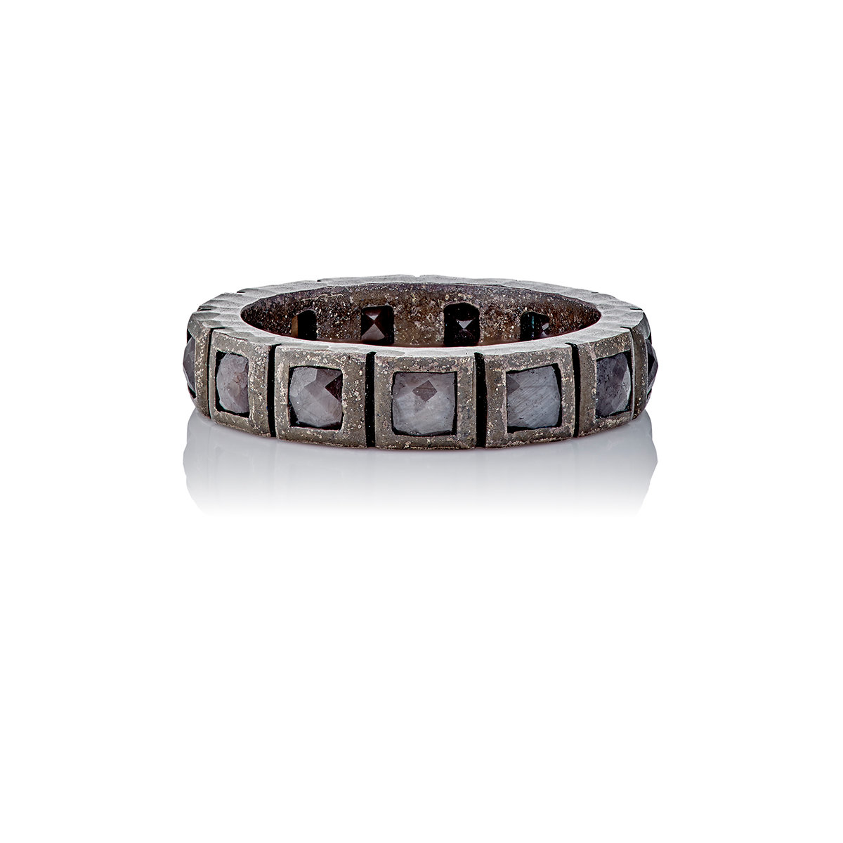 Nak armstrong women39s mosaic ring in brown lyst for Nak armstrong wedding ring
