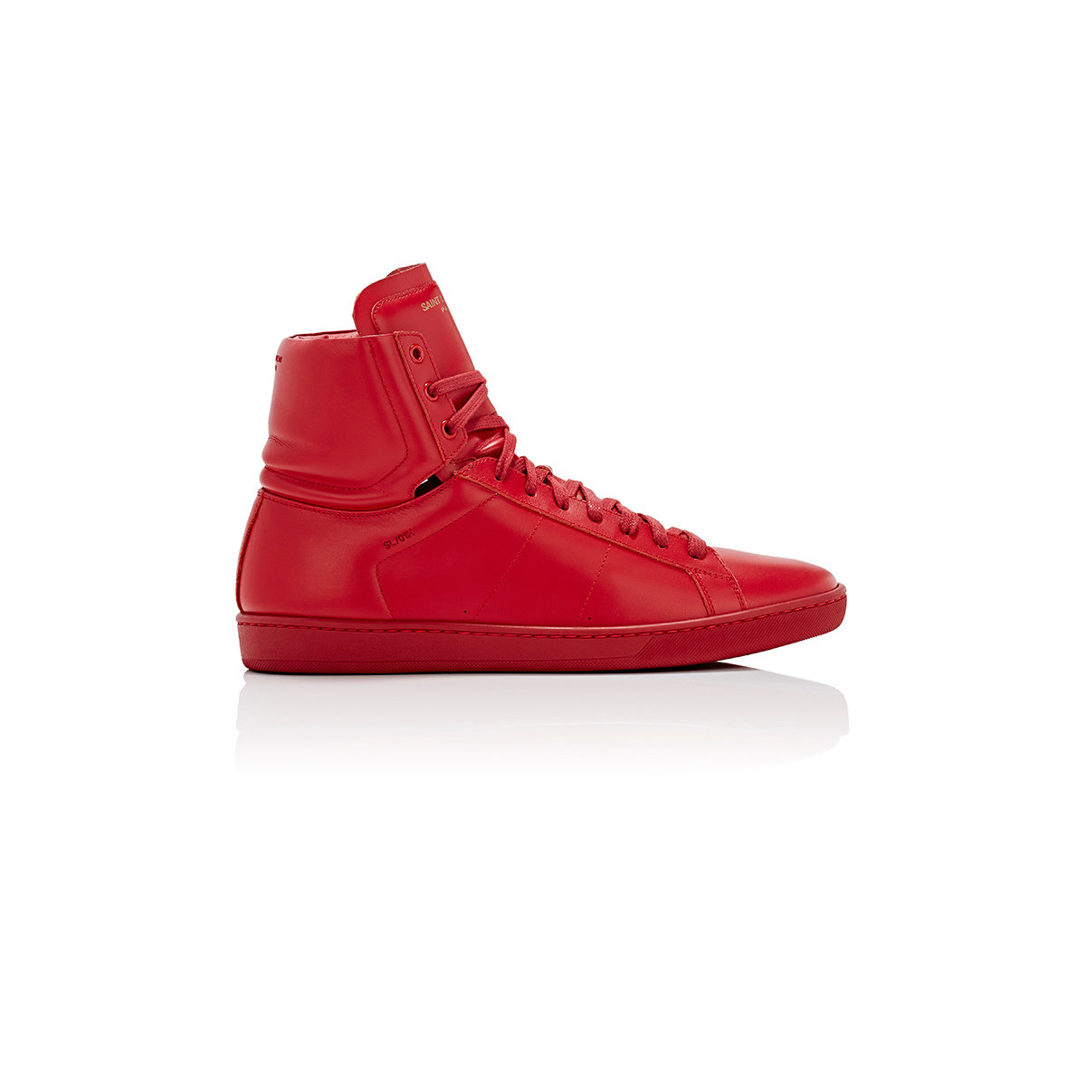saint laurent men 39 s classic court sneakers in red for men lyst. Black Bedroom Furniture Sets. Home Design Ideas
