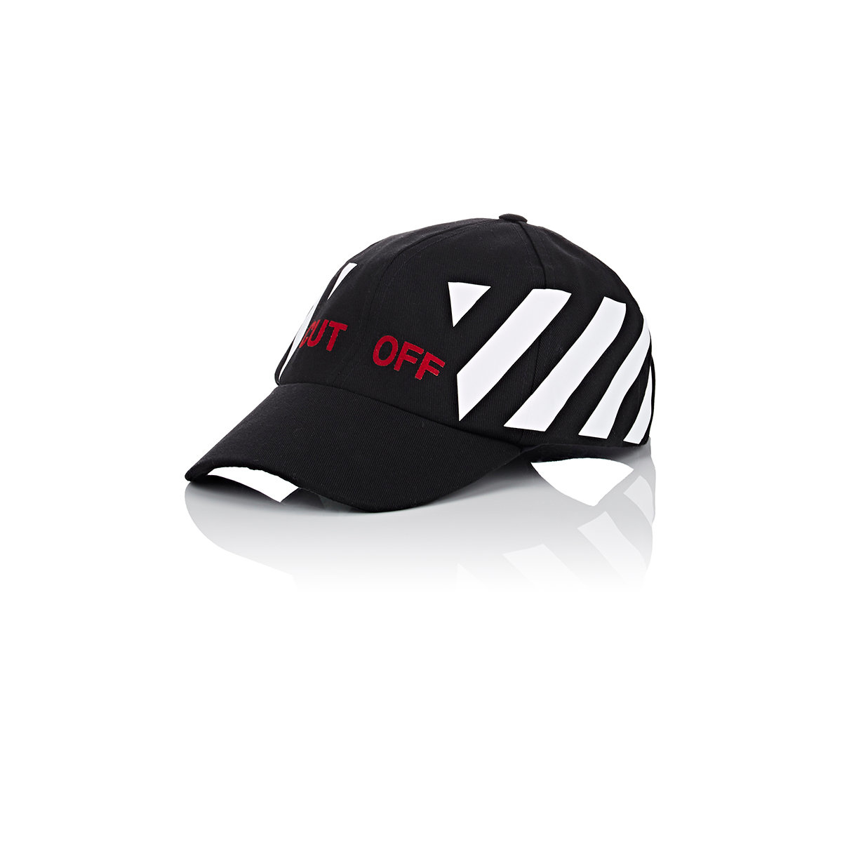 186ad95f980758 Off-White c/o Virgil Abloh cut Off Cotton Baseball Cap in Black for ...