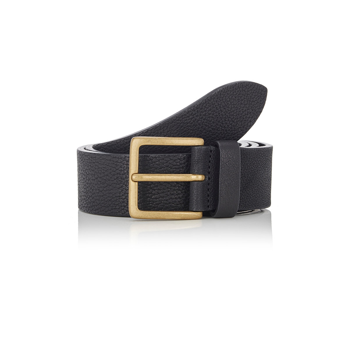 barneys new york s washed leather belt in blue for