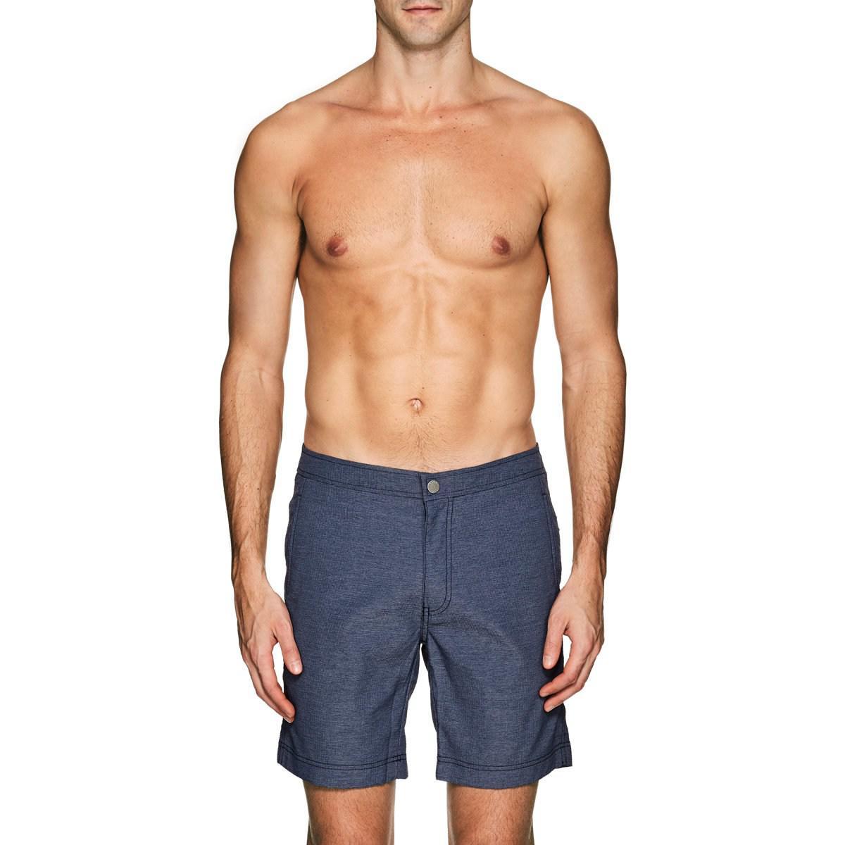 33d7d9b38e Lyst - Onia Calder Textured Swim Trunks in Blue for Men
