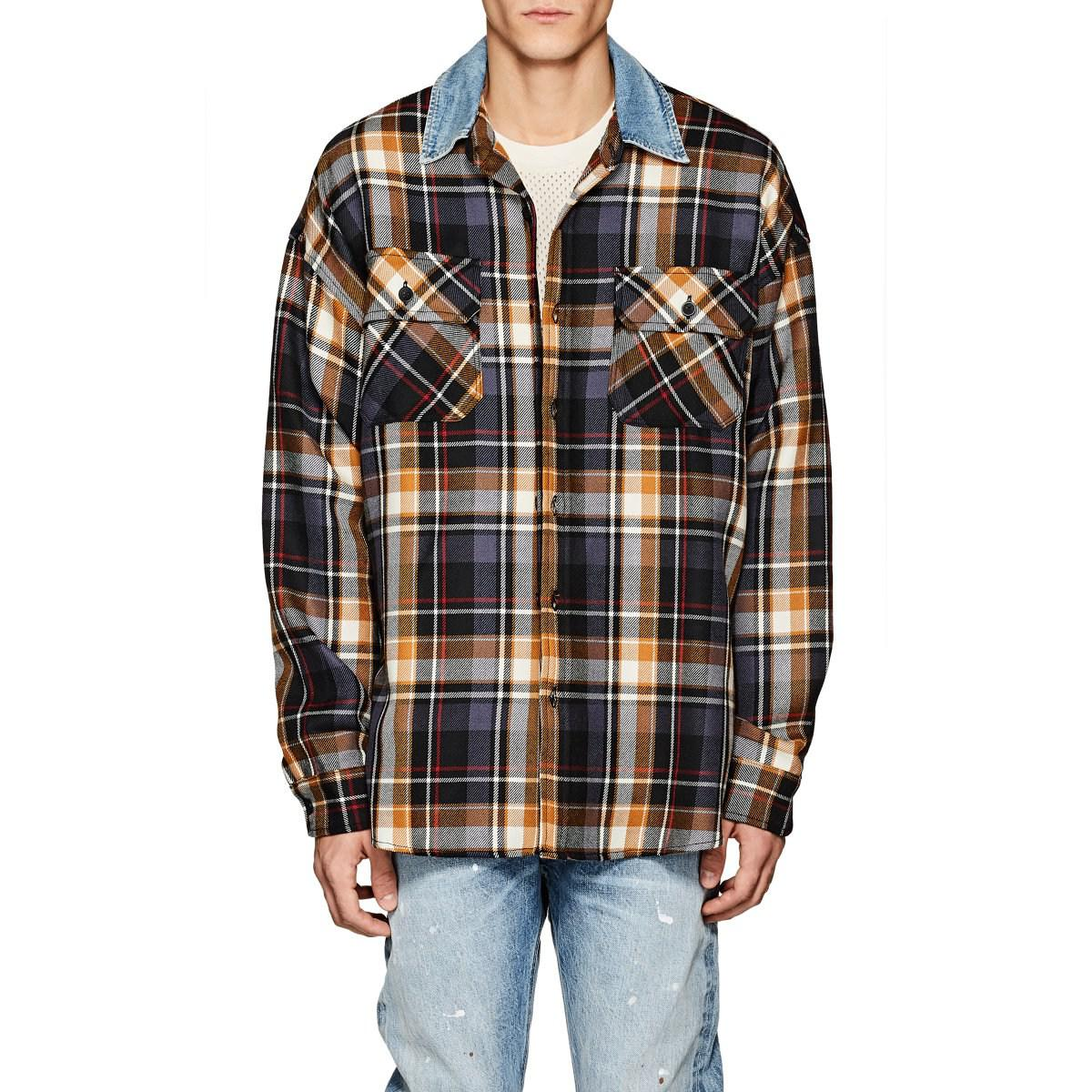 f4be092543 Lyst - Fear Of God Oversized Plaid Wool Shirt in Purple for Men