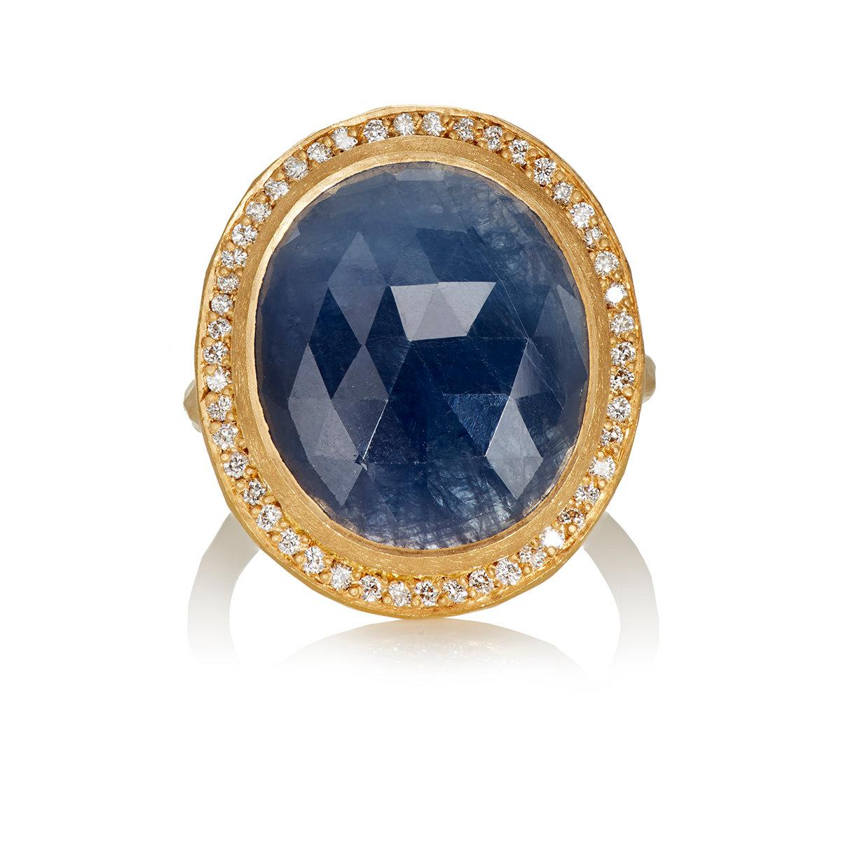 Malcolm Betts Womens Blue Sapphire Ring b66t4xCZ