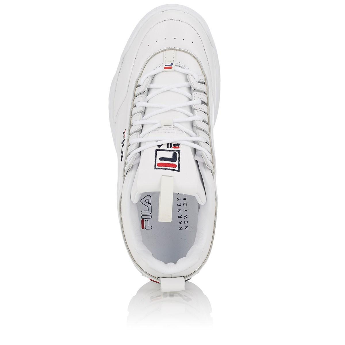 6ecd50355fb15 Lyst - Fila Disruptor 2 Lux Leather Sneakers in White