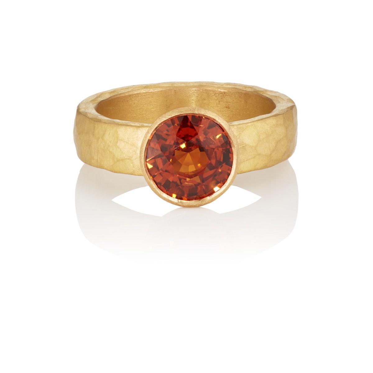 Womens Mandarin Garnet Ring Malcolm Betts Tgtlk8