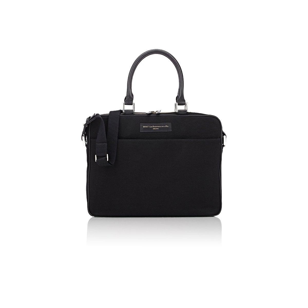 Haneda Leather-Trimmed Nylon Computer Bag Want Les Essentiels Clearance The Cheapest For Sale Very Cheap Discount From China Jx7Tvu9u
