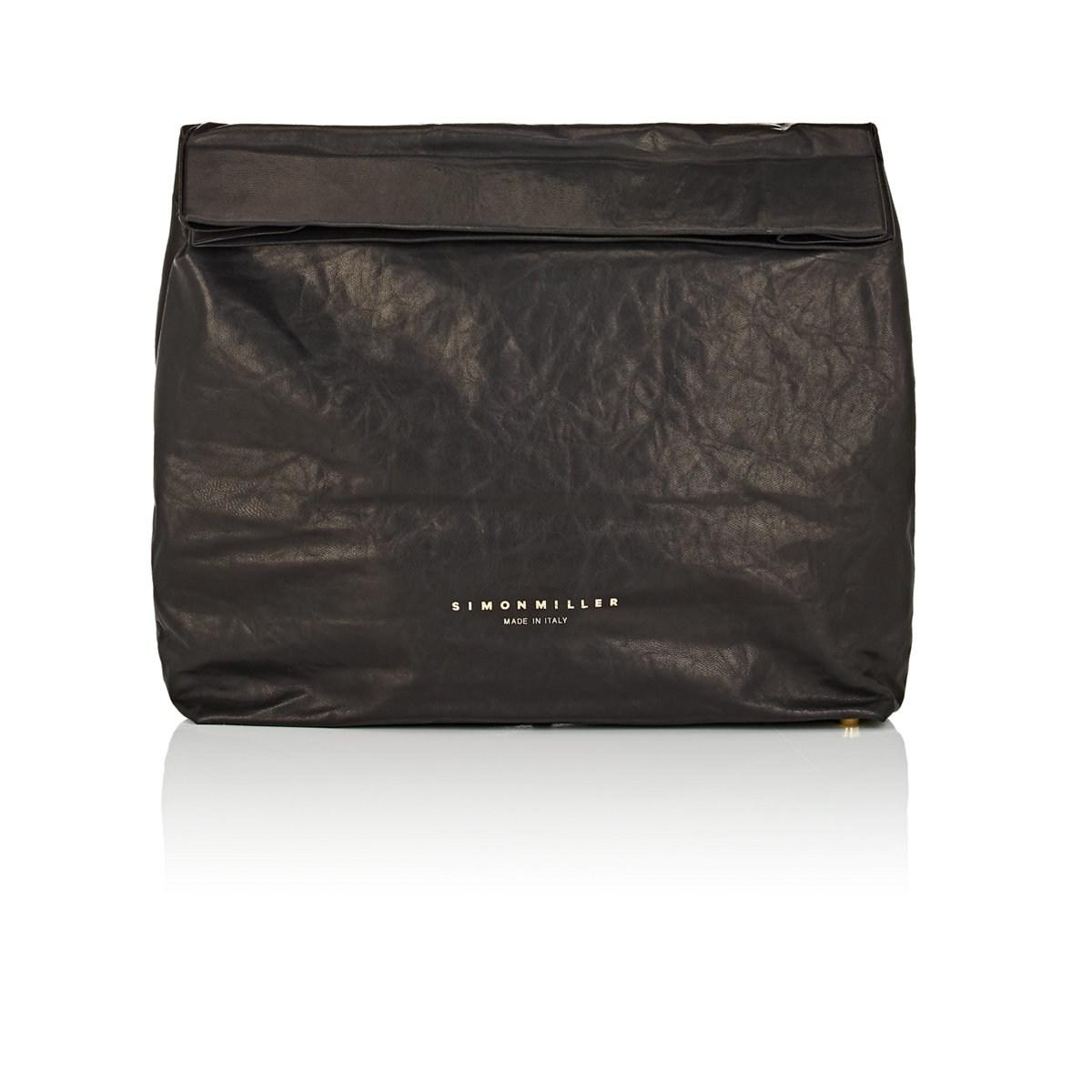 Simon Miller Extra Large Leather Lunch Bag in Black - Lyst 0d1be617f652a