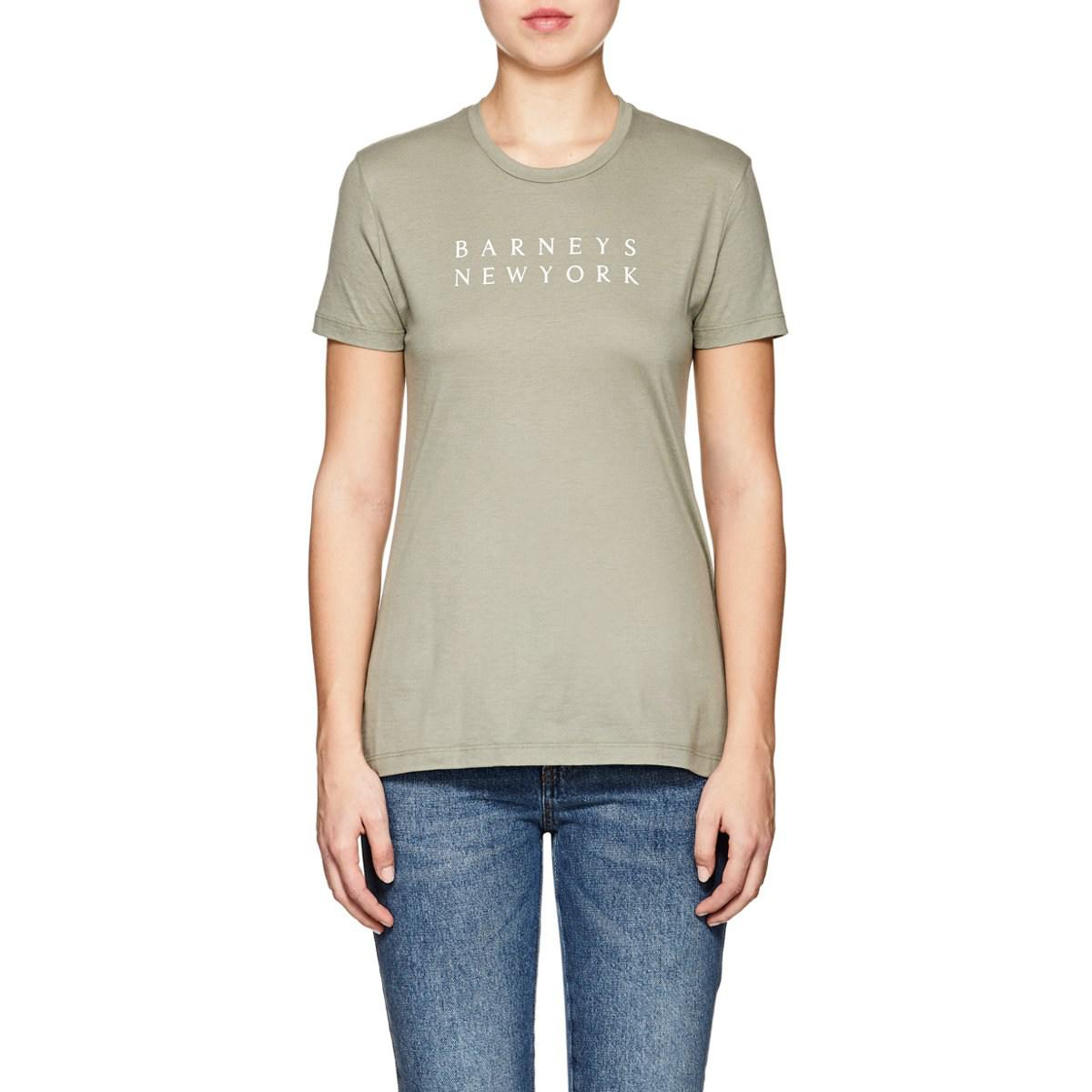 64837ab4bf barneys-new-york-Dk-Green-Logo-Pima-Cotton-T-shirt.jpeg