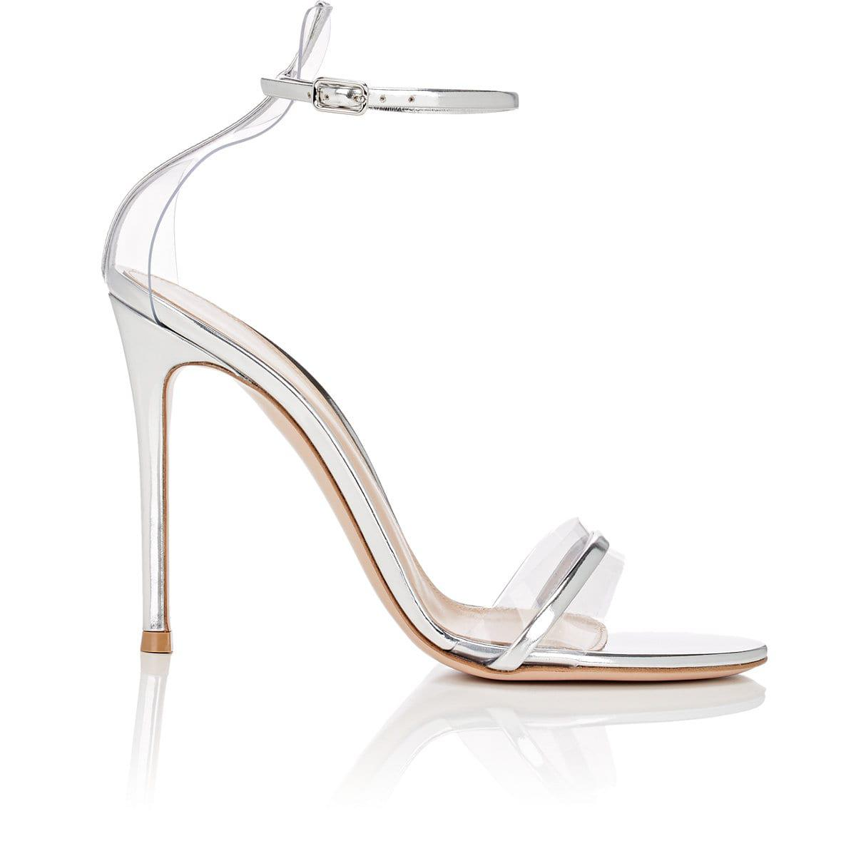 d88a33d076ce6 Lyst - Gianvito Rossi G String Satin   Pvc Sandals in Metallic