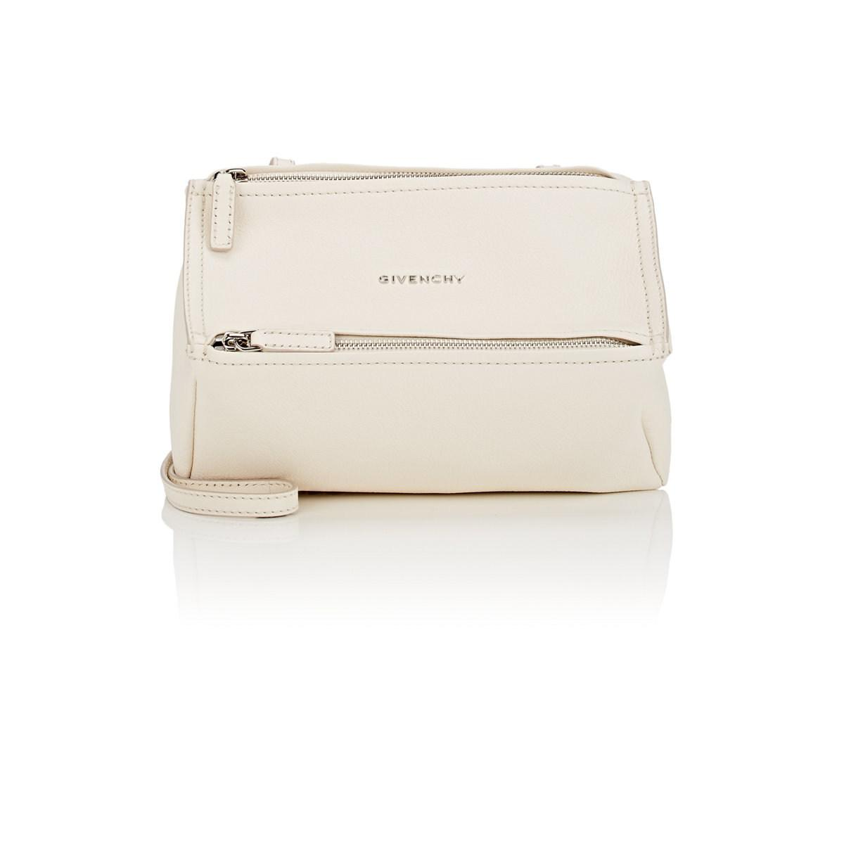 Lyst - Givenchy Pandora Mini Leather Messenger Bag in Natural f2531f8d3b39a