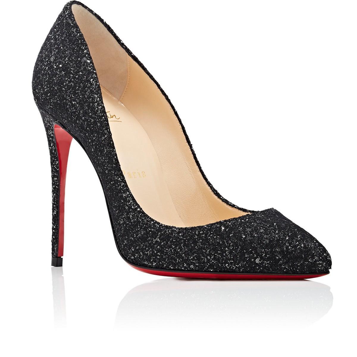 detailed look 14684 ff54a Women's Black Pigalle Follies Glitter Pumps