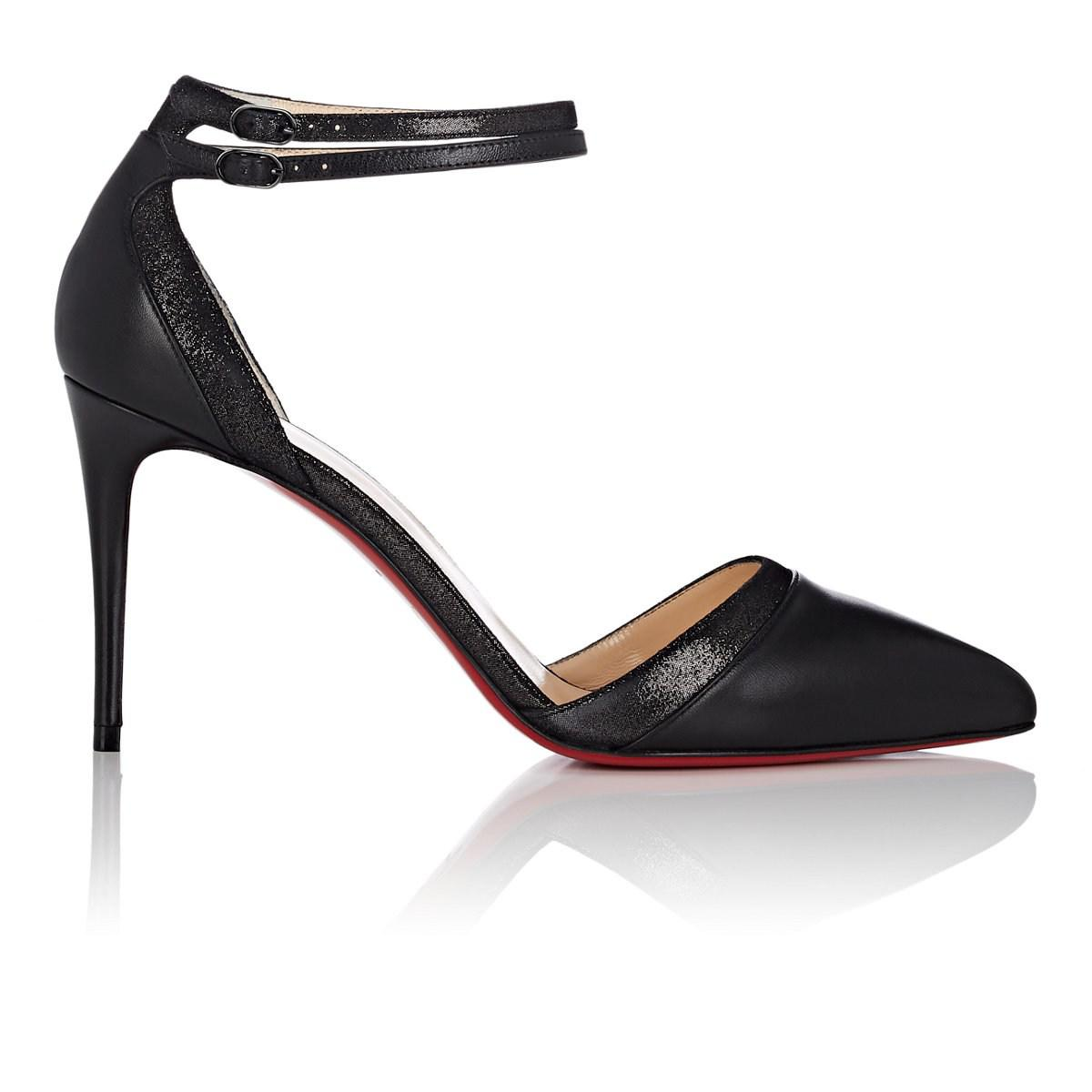 new styles 7603b 466b5 Christian Louboutin Black Uptown-double Leather Pumps