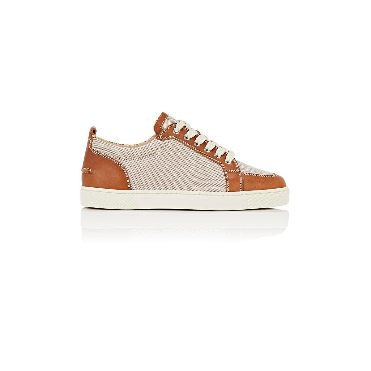 Mens Rantulow Flat Canvas & Leather Sneakers Christian Louboutin 7xyGTv