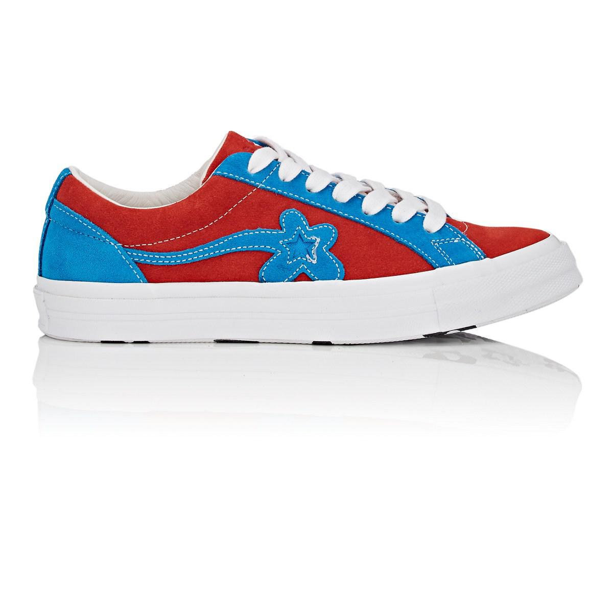 ef742e7233a553 Lyst - Converse Golf Le Fleur One Star Suede Sneakers in Blue for Men