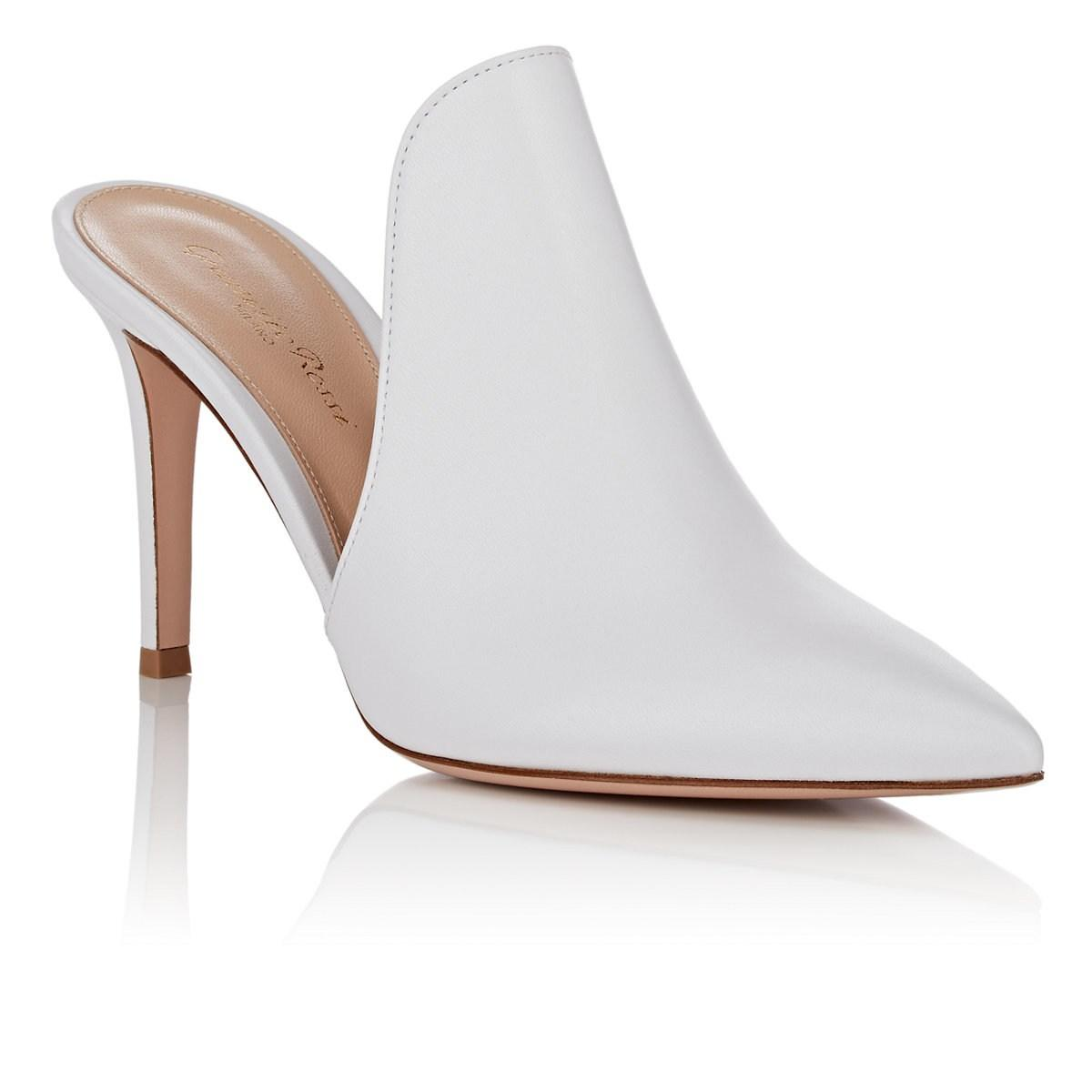 5b0464d6c3a Gianvito Rossi - White Aramis Leather Mules - Lyst. View fullscreen
