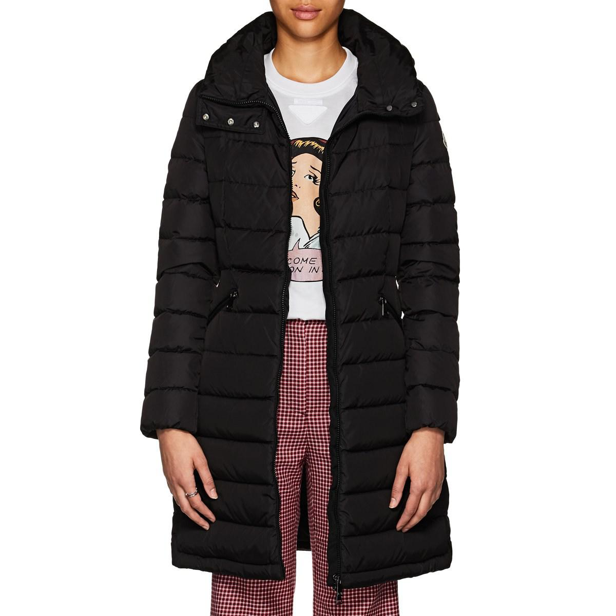 4832f6a19 Moncler Flammette Down-quilted Coat in Black - Lyst