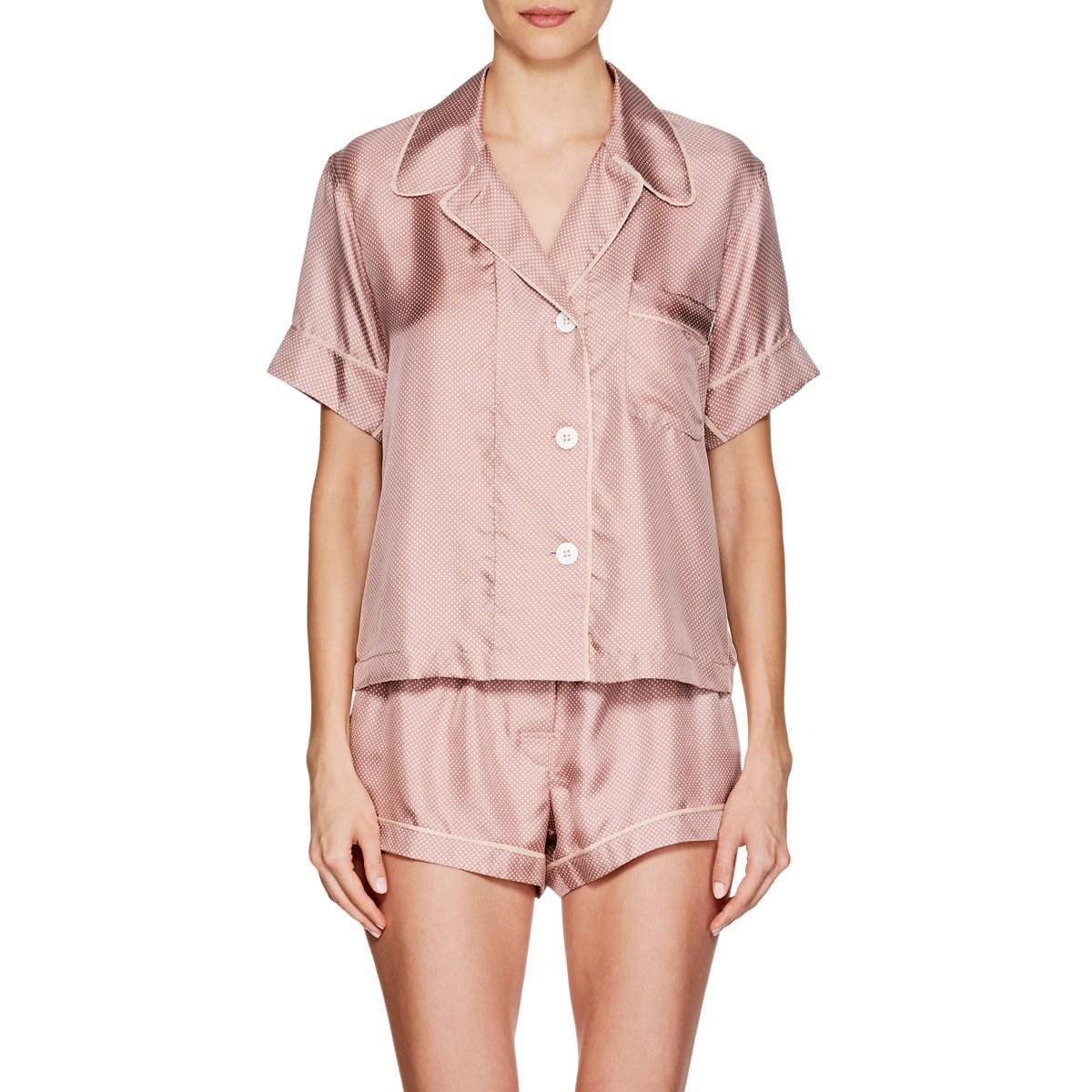 Araks Shelby Silk Pajama Top in Pink - Lyst 8fddc2052