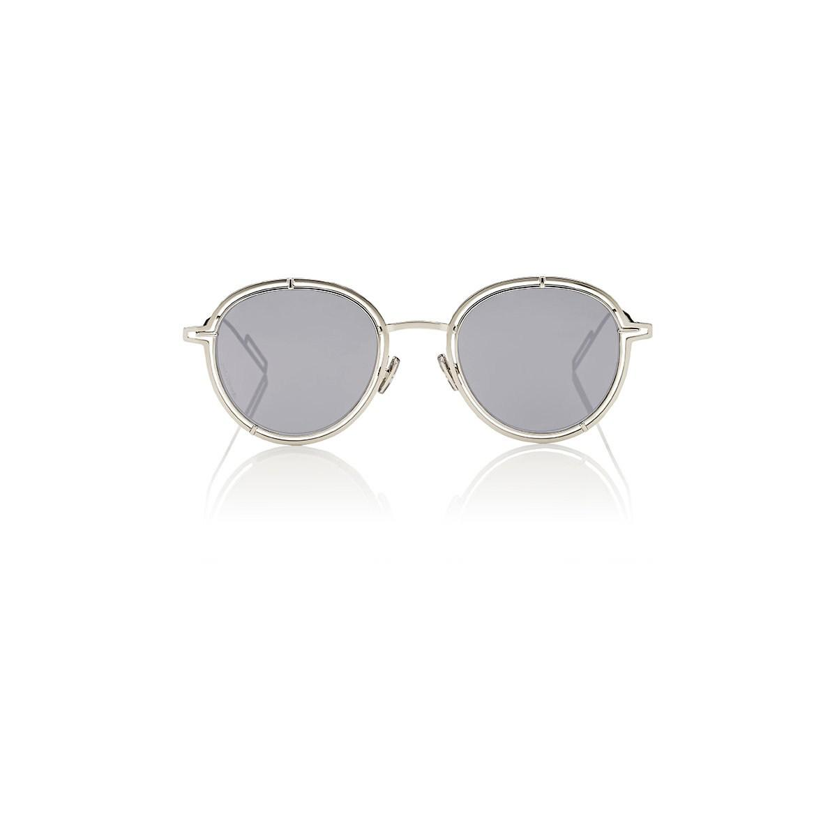 Dior Homme 0210s Sunglasses In Silver Metallic For Men