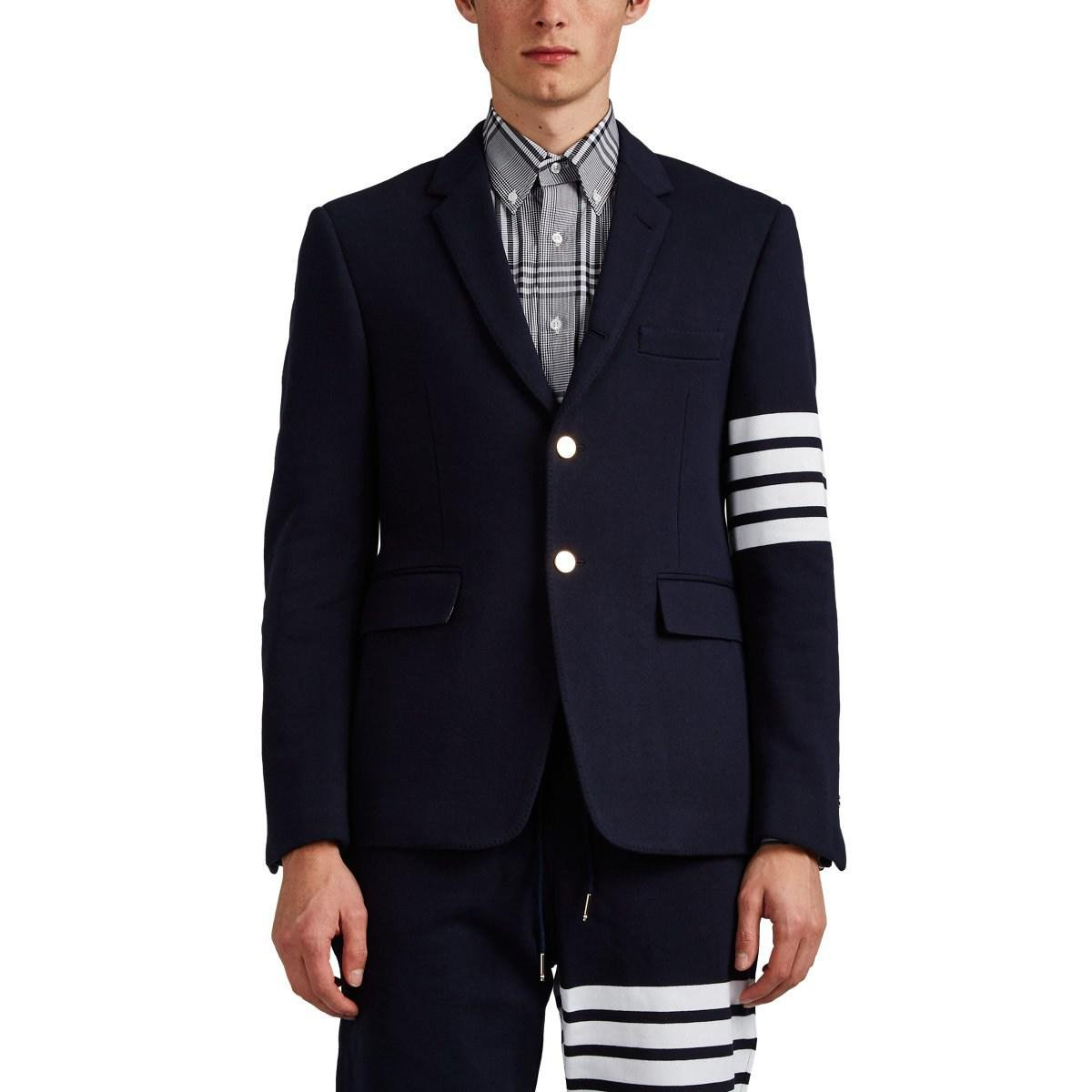 79869057707d Lyst - Thom Browne Cotton Three-button Sportcoat in Blue for Men