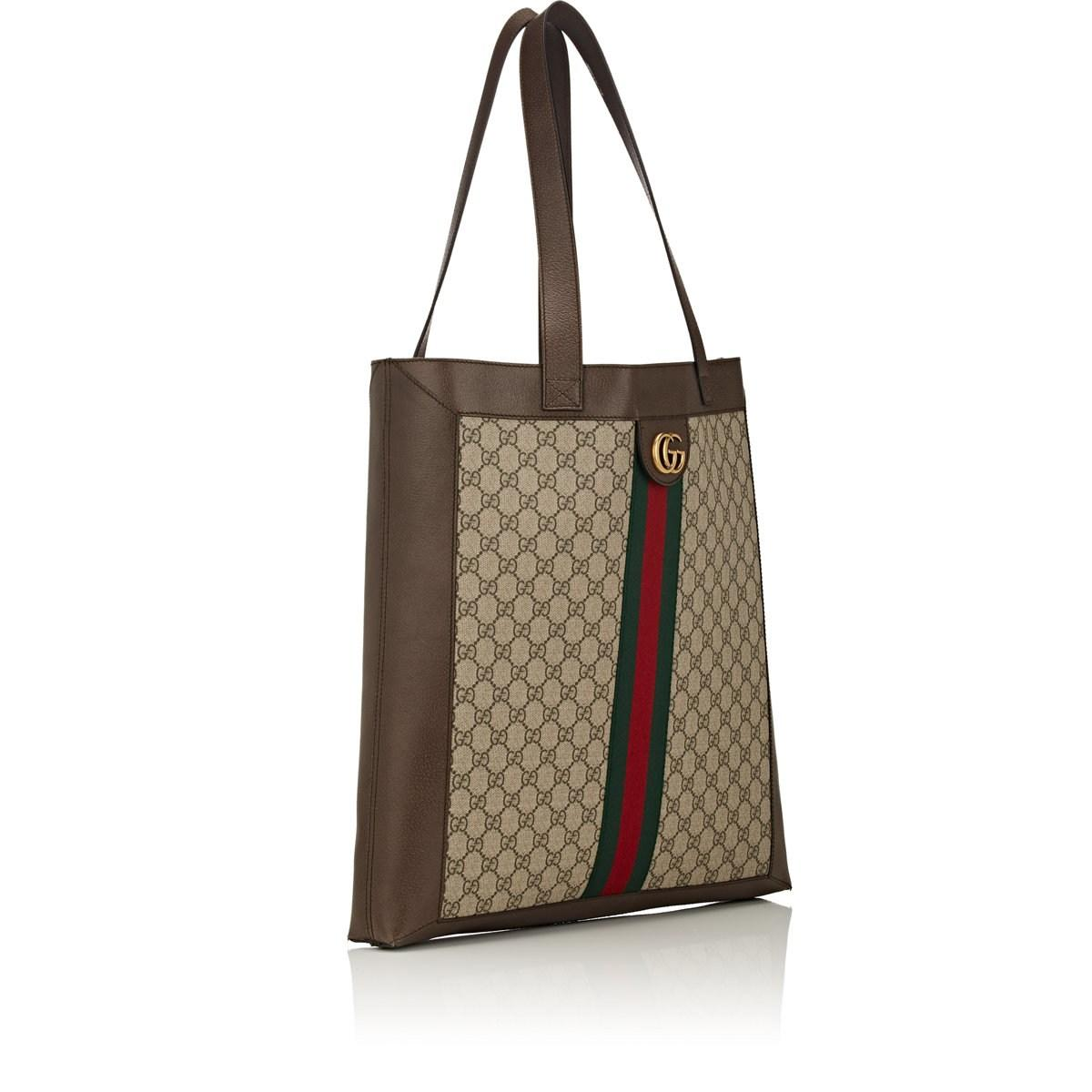 d372186d42 Gucci GG Supreme Canvas Tote Bag in Natural for Men - Lyst