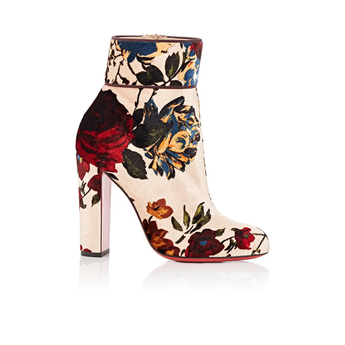ddefb7f6aaf5 Lyst - Christian Louboutin Moulamax Velvet Ankle Boots in Natural