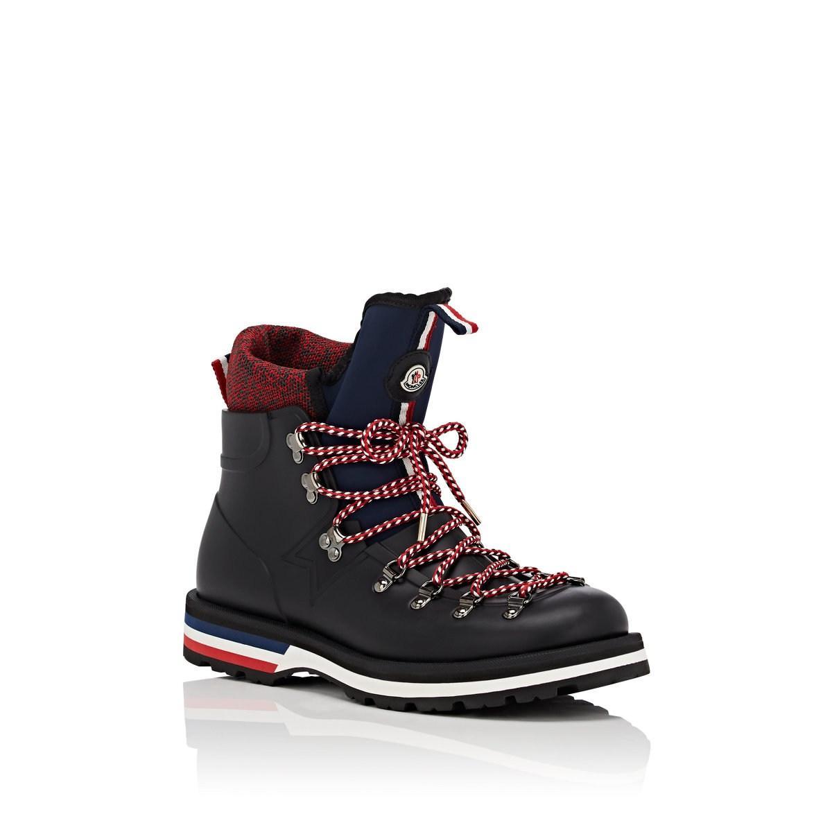 40e1d7e6667 Moncler Black Henoc Rubber Hiking Boots for men