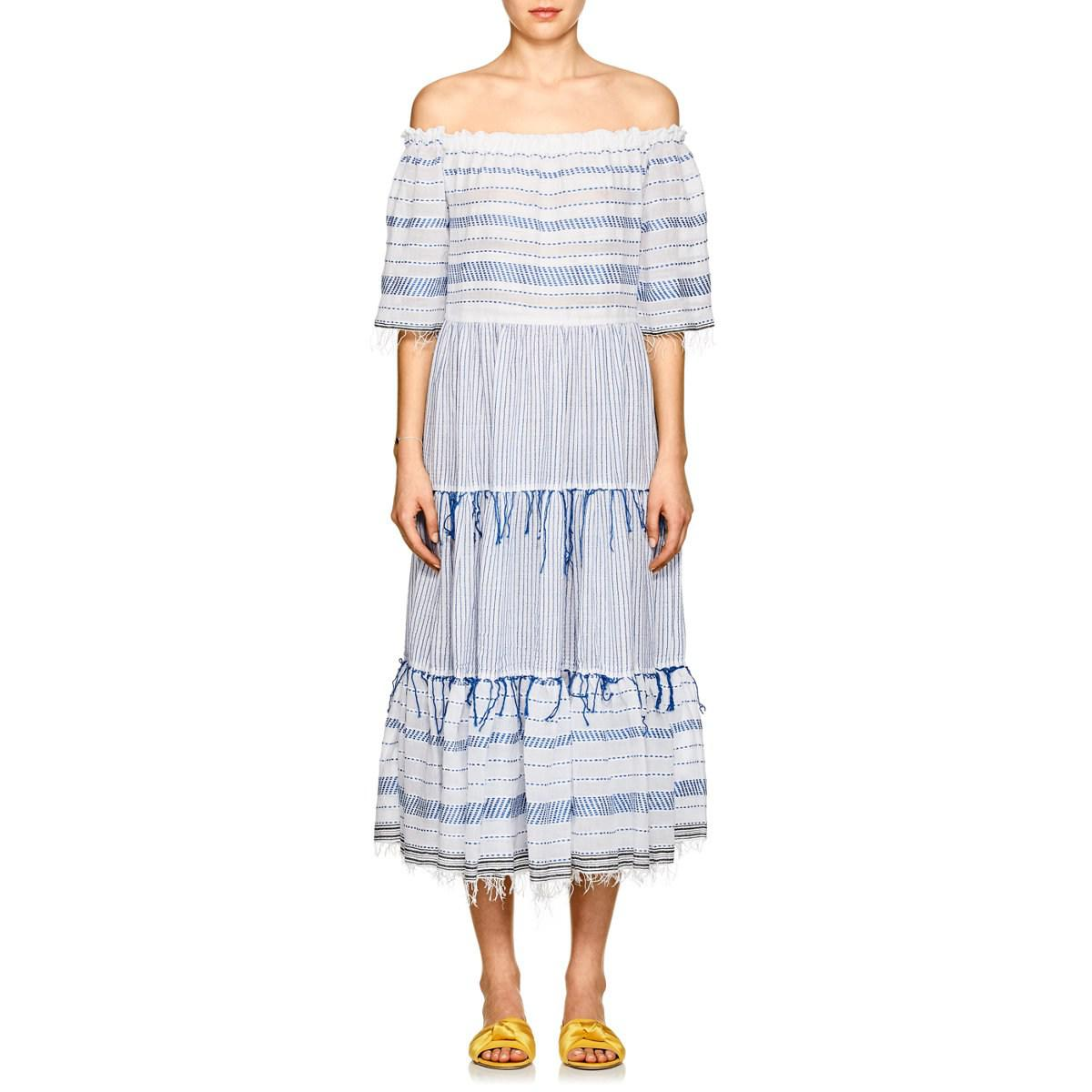 Womens Tiki Striped Cotton Maxi Dress Lemlem 1QPH7ZTFf