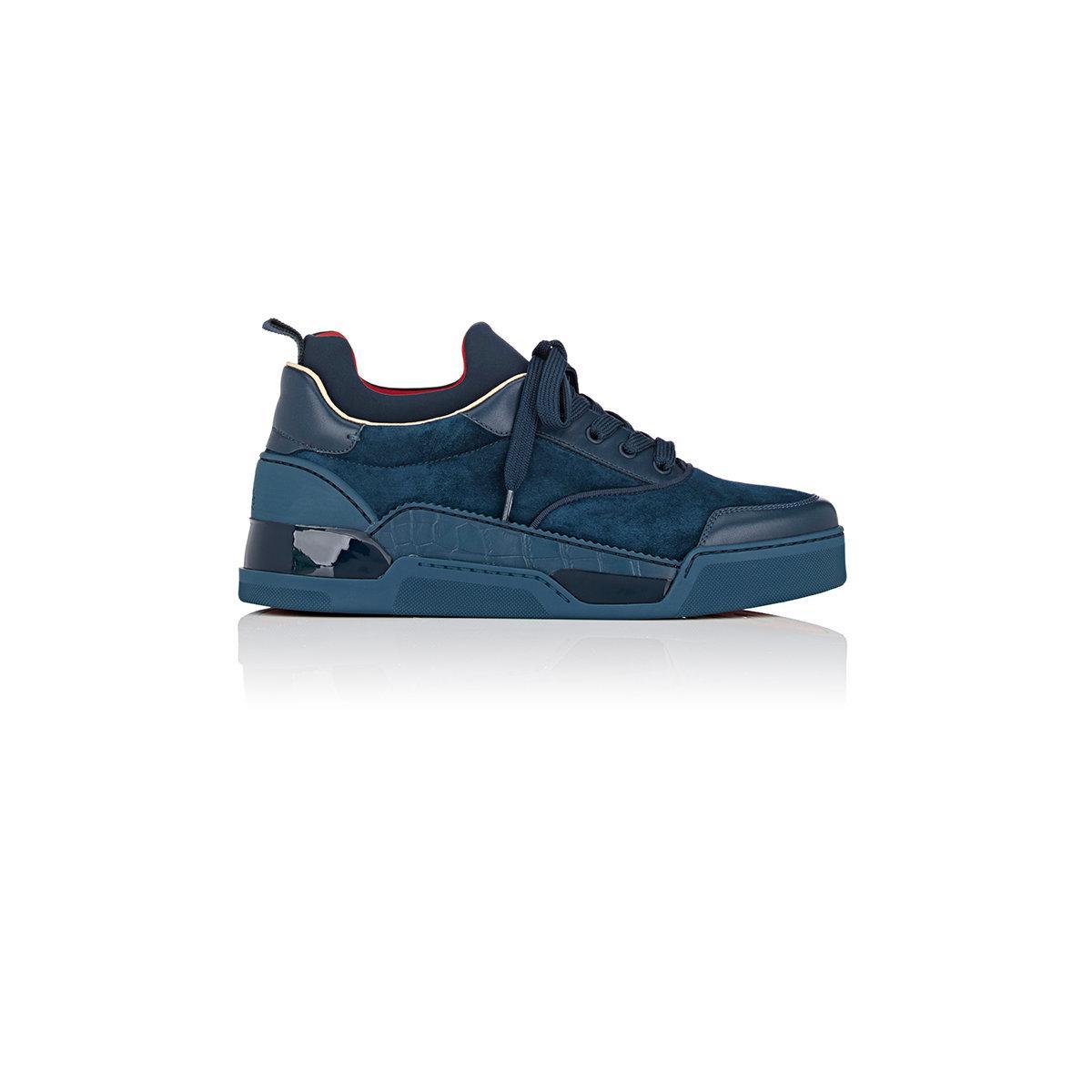 reputable site 923af 37067 Men's Blue Aurelien Flat Sneakers