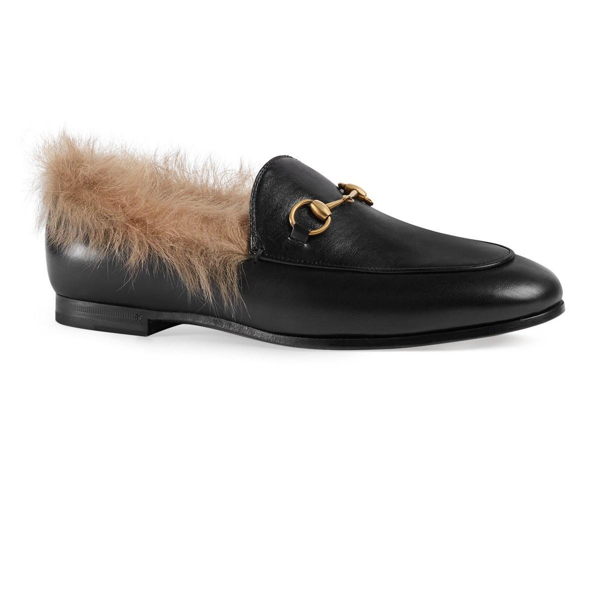 4d831bc3ecb Gucci - Black Jordaan Leather Loafers - Lyst. View fullscreen