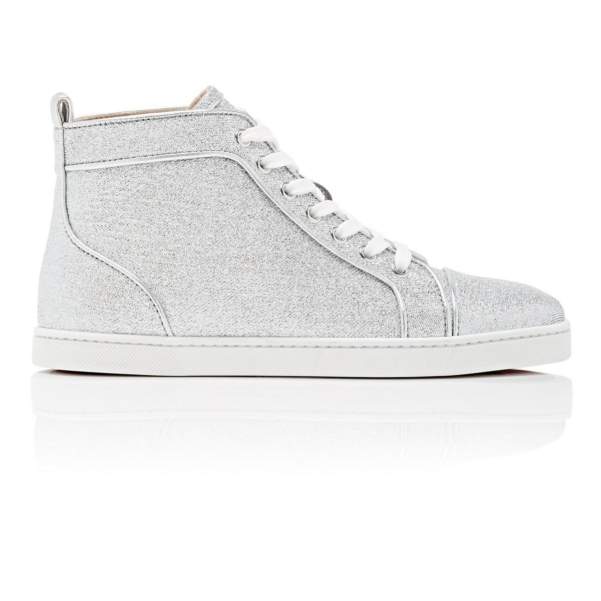 a6ae18ccded0 Christian Louboutin Bip Bip Woman Orlato Flat Sneakers in Metallic ...