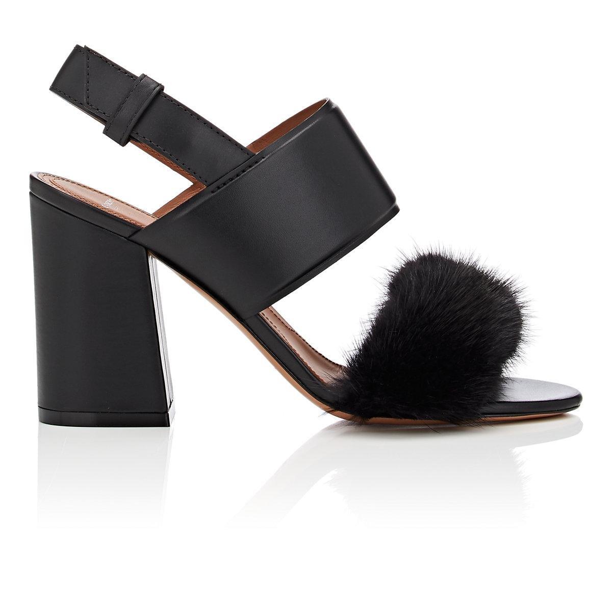 Sandals leather black mink Givenchy catYJD