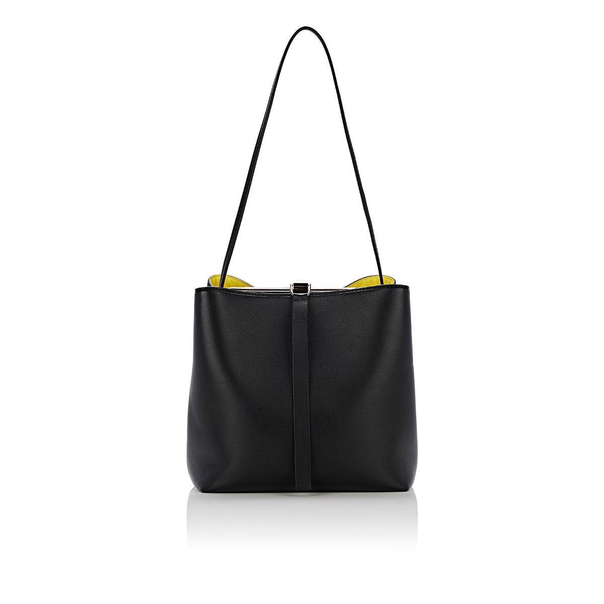 Proenza Schouler Frame Striped Leather & Calf Hair Shoulder Bag Fr8pQ