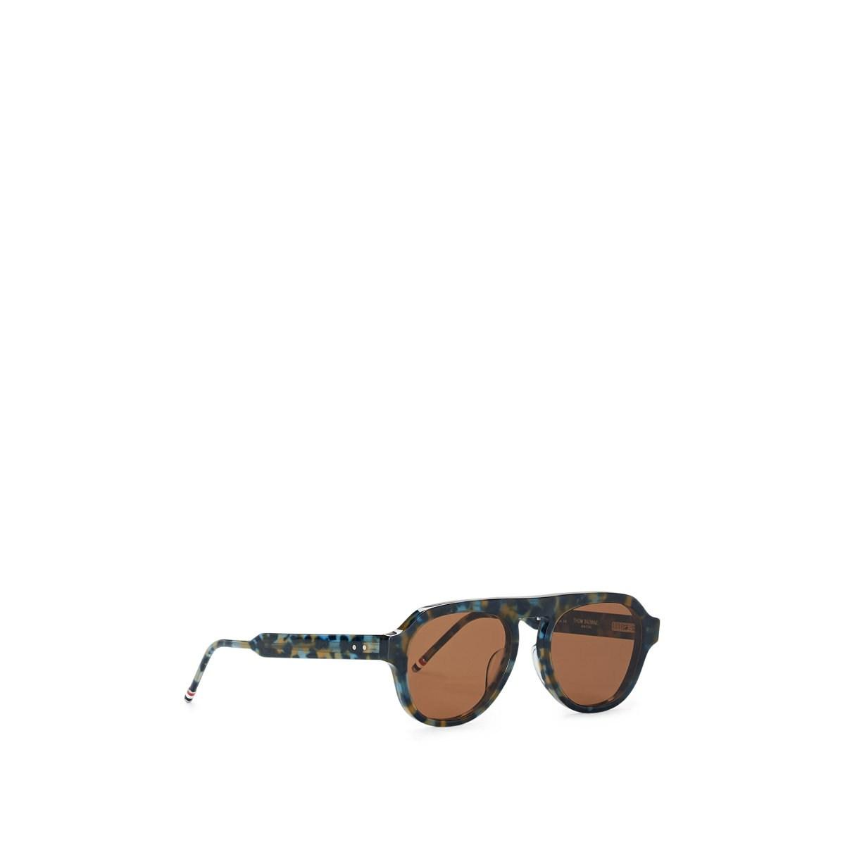 b71bf44657f85 Lyst - Thom Browne Tb-416 Sunglasses in Brown for Men