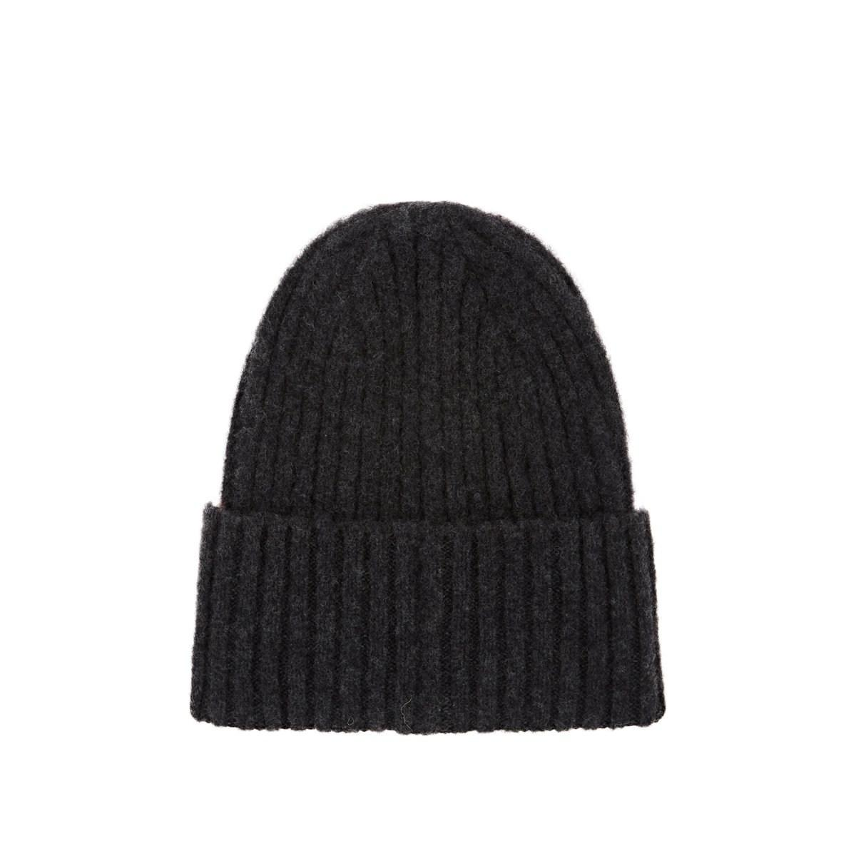 b4a4381f60e Drake S Rib-knit Lambswool Beanie in Gray for Men - Lyst