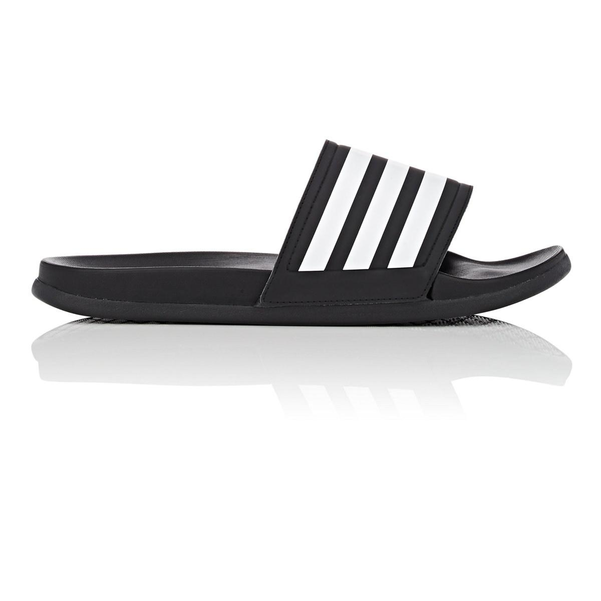 13eec5eb684028 Adidas Adilette Cloudfoam Plus Slide Sandals in Black for Men - Lyst