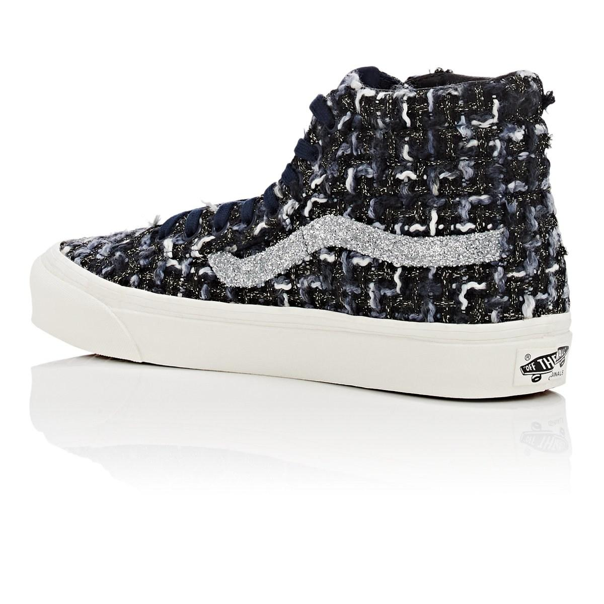 7717c85637 Vans - Blue Og Sk8-hi Lx Tweed Sneakers - Lyst. View fullscreen