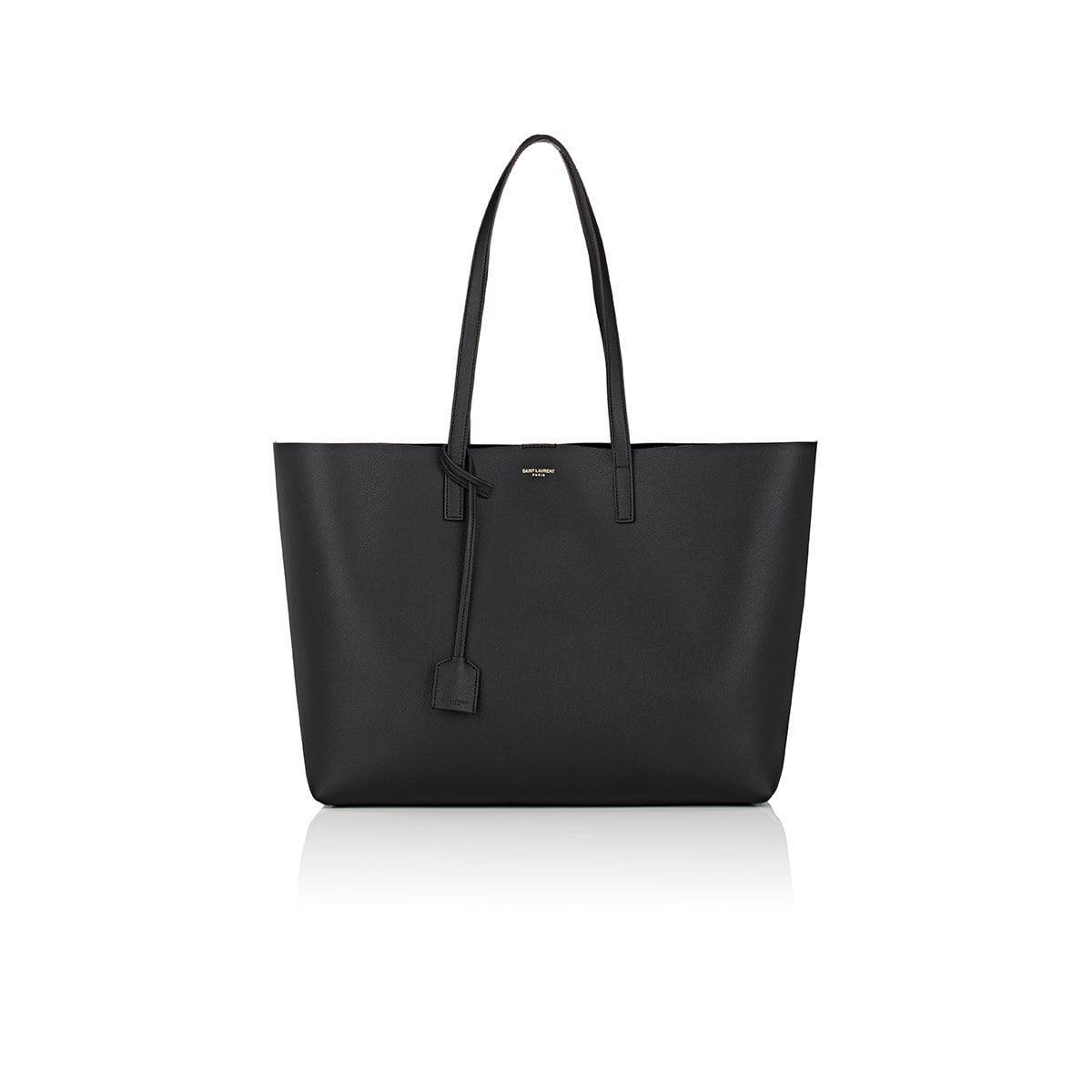 lyst saint laurent large shopper tote bag in black. Black Bedroom Furniture Sets. Home Design Ideas