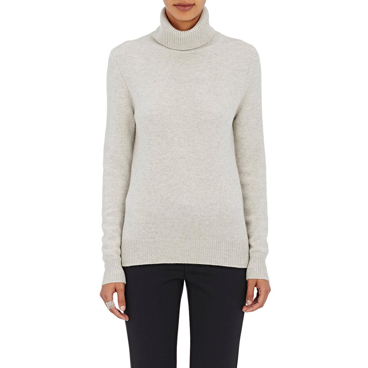 Lyst Chlo 233 Cashmere Turtleneck Sweater In Gray