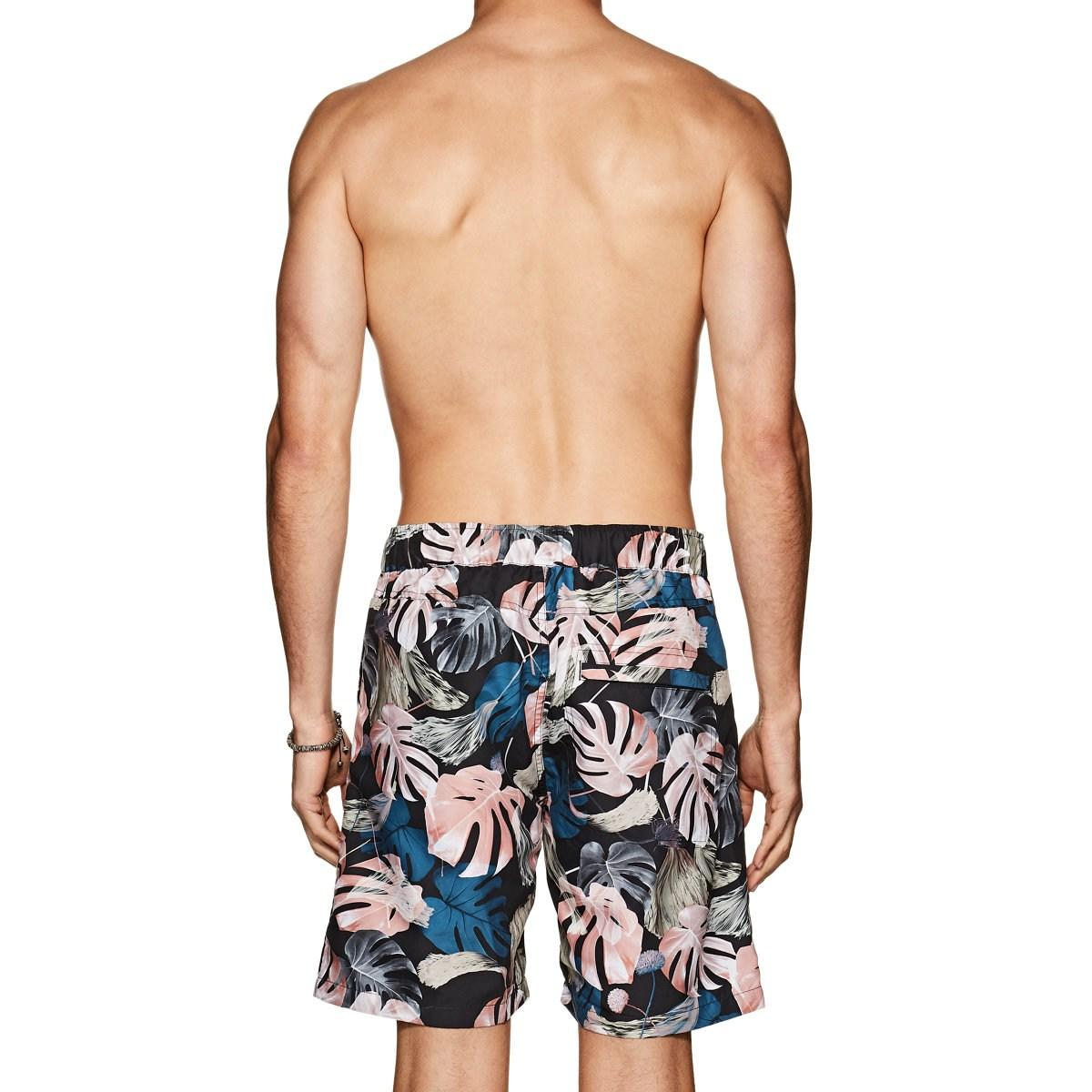 ca6876609d2cc Saturdays NYC - Blue Trent Monstera Swim Trunks for Men - Lyst. View  fullscreen
