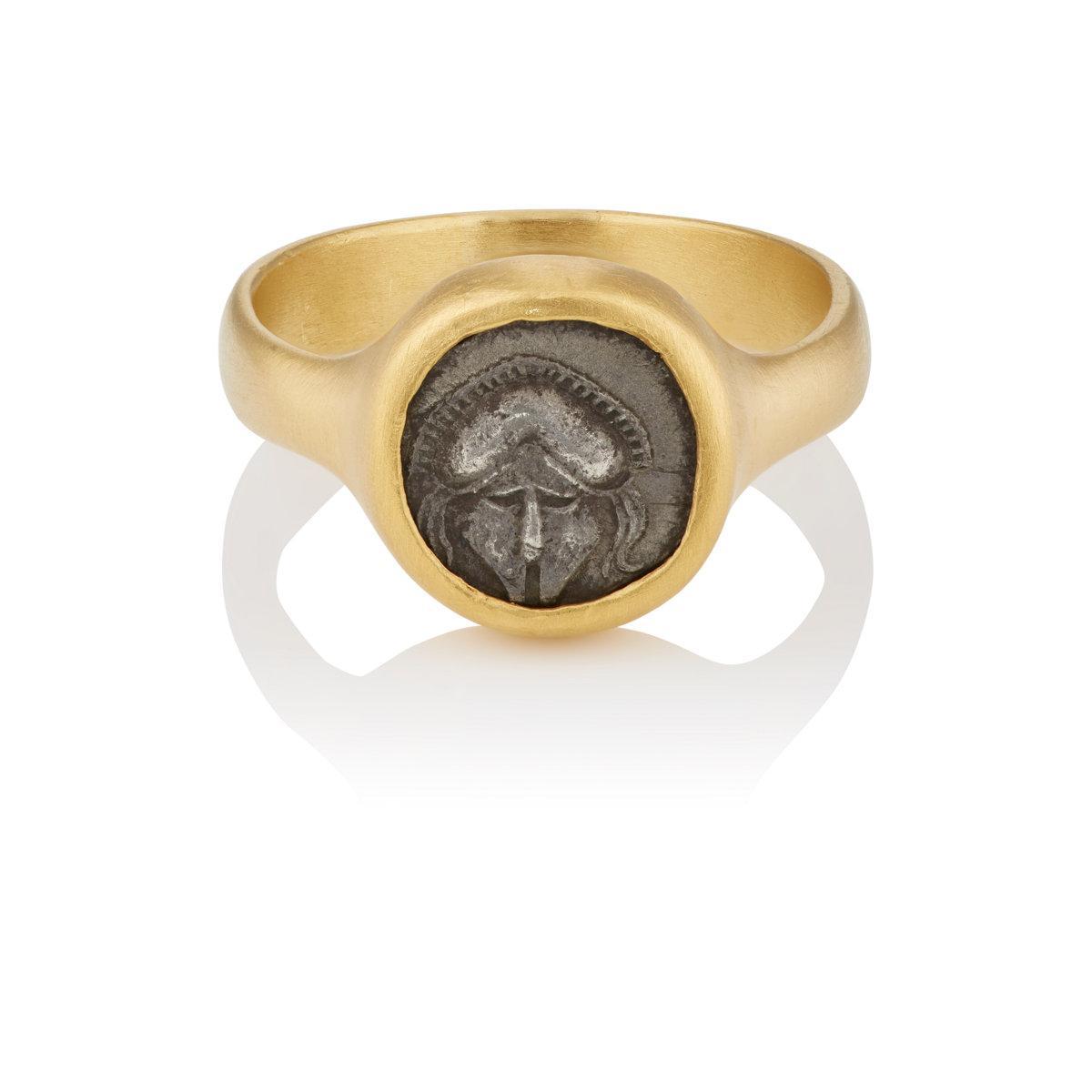 Eli Halili Womens Ancient Corinthian Helmet Coin Ring LQdb0fsK