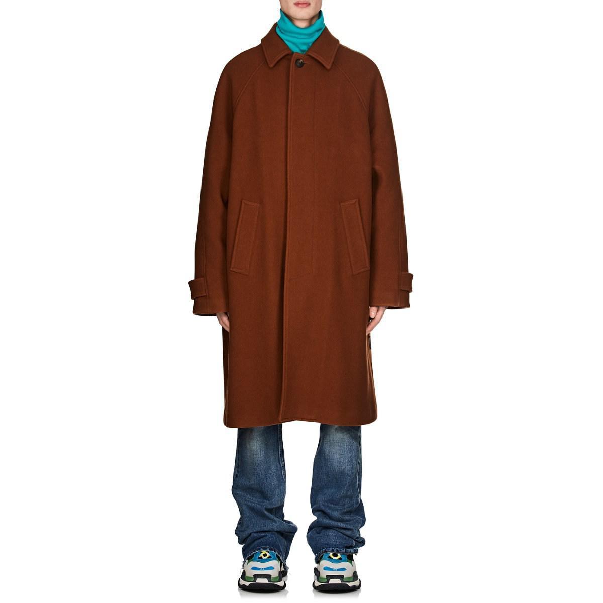 Lyst Balenciaga Brown Coat Opera Virgin Wool For Men In Melton Trench qaOFwqC