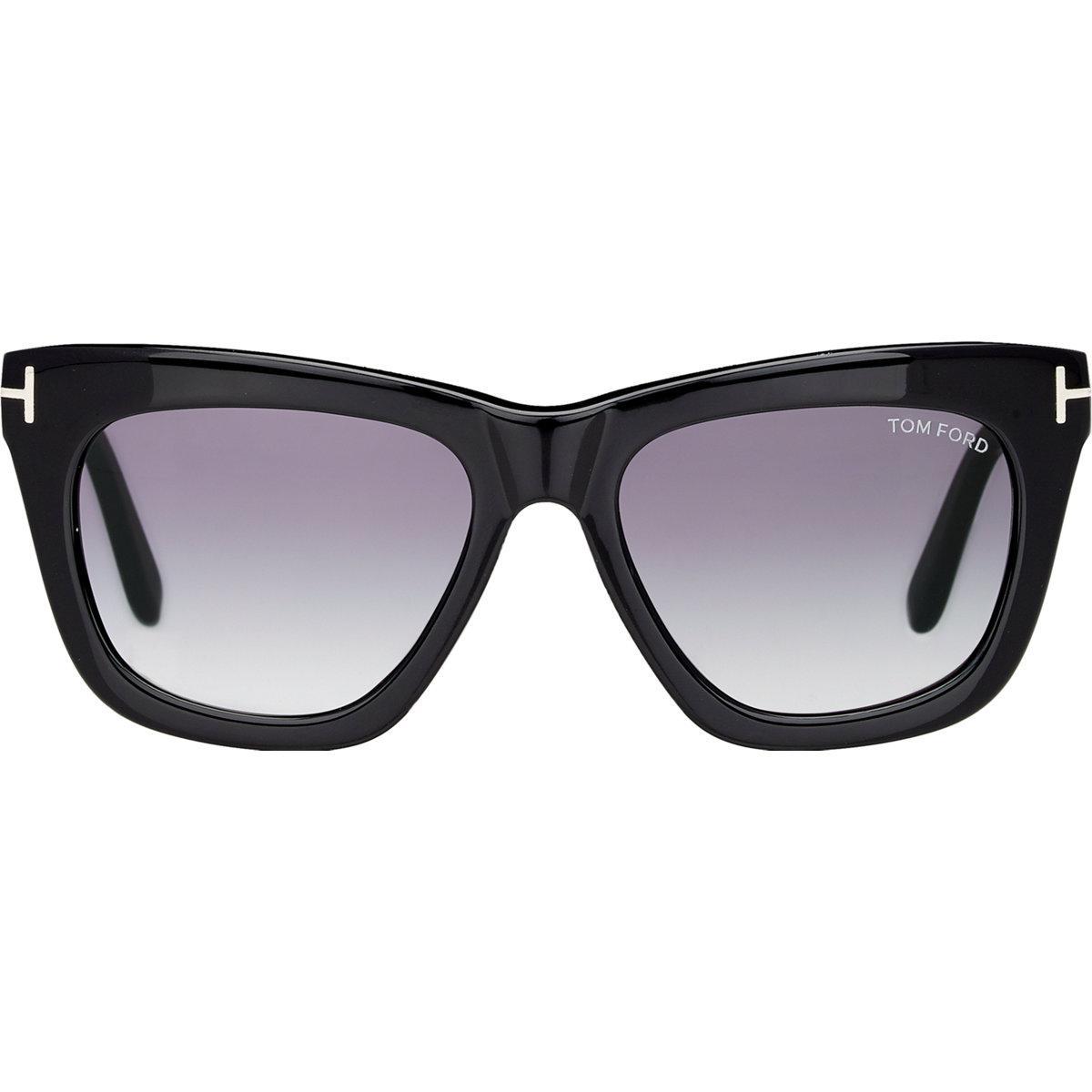 Tom Ford Celina - Black Sonnenbrille Black-blue-purple stripe 01A 55mm SA2Geku5