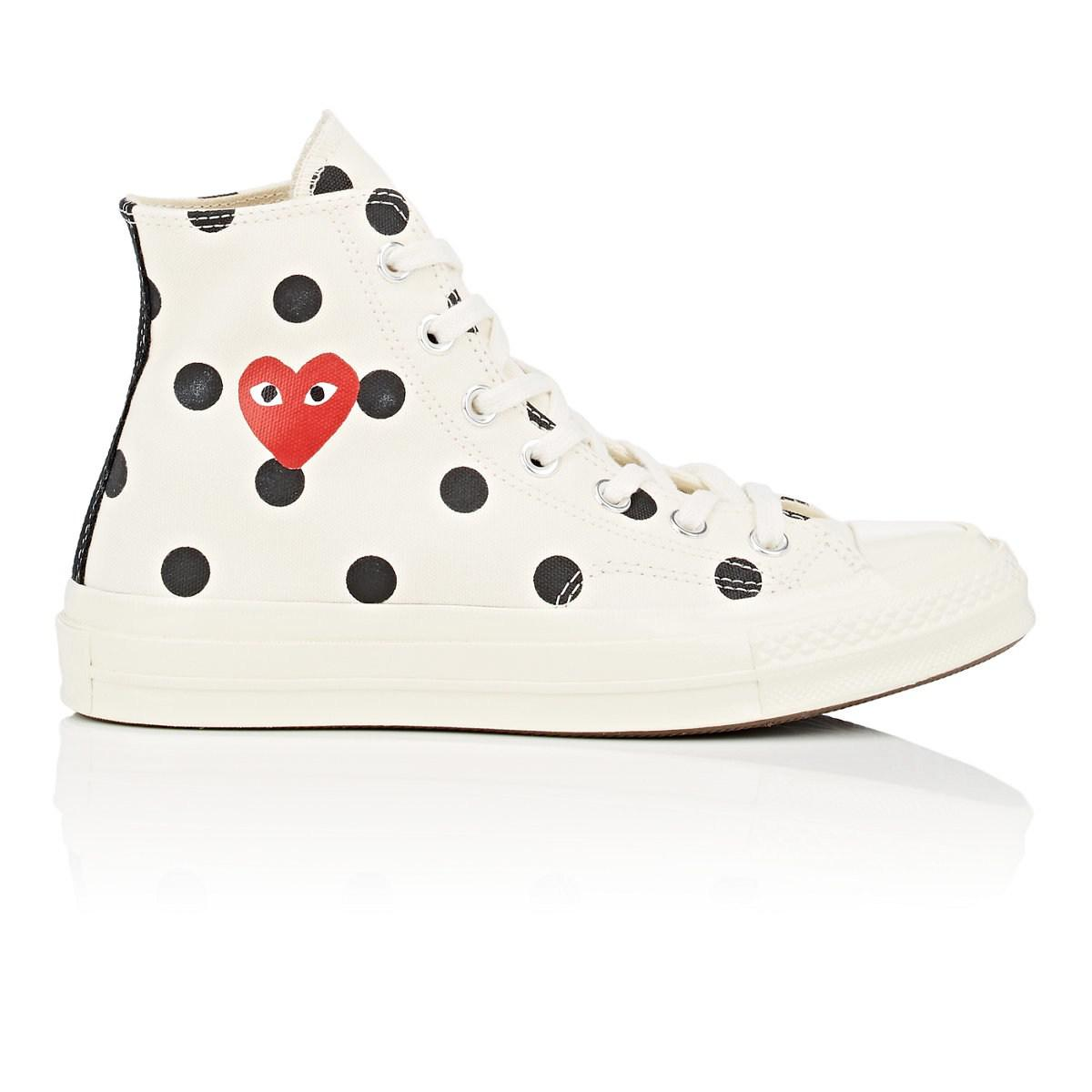 1c930ffe0089 COMME DES GARÇONS PLAY Chuck Taylor  70s Canvas Sneakers in White - Lyst