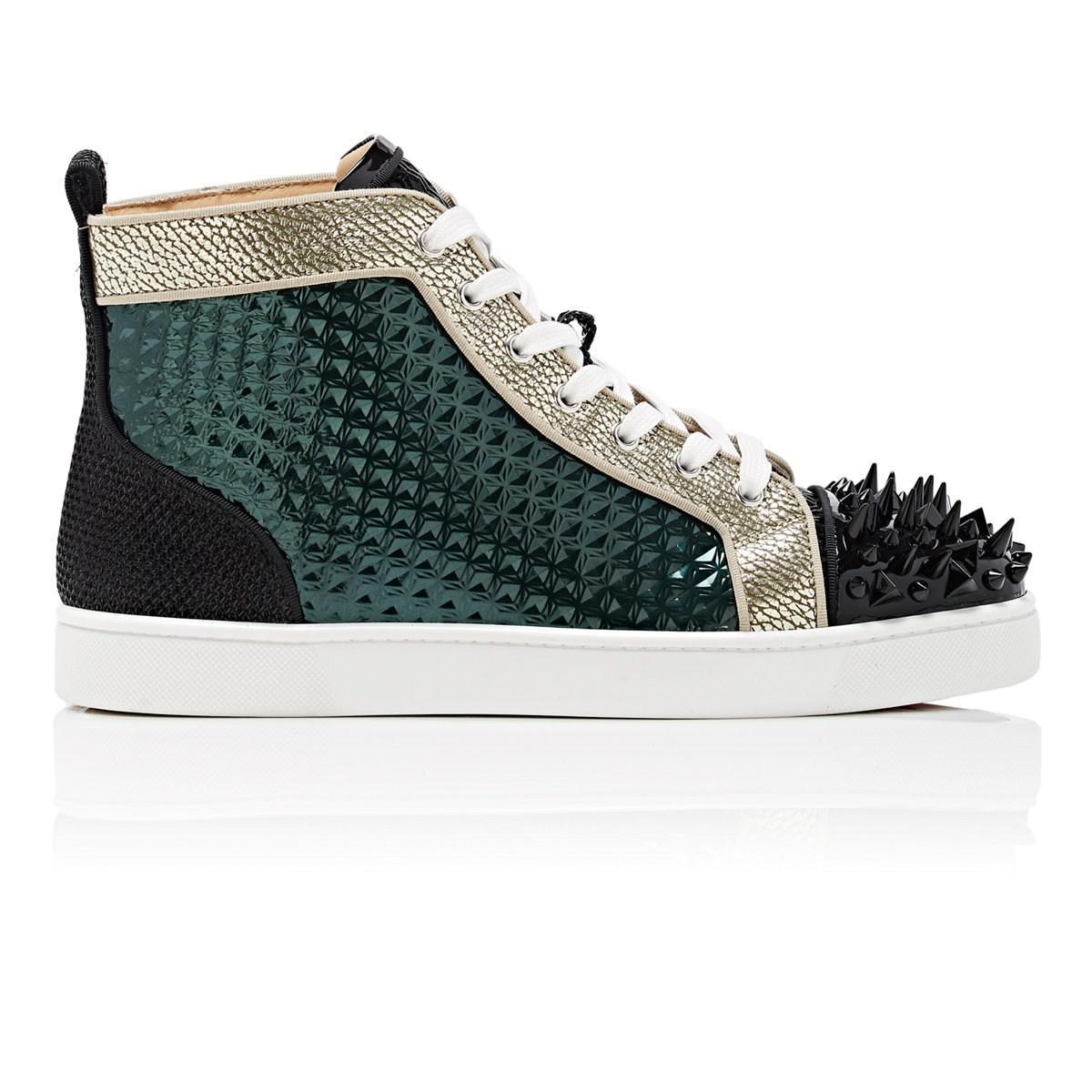 eb334a1ea46 Christian Louboutin Black Louis Pik-bis Flat Sneakers for men