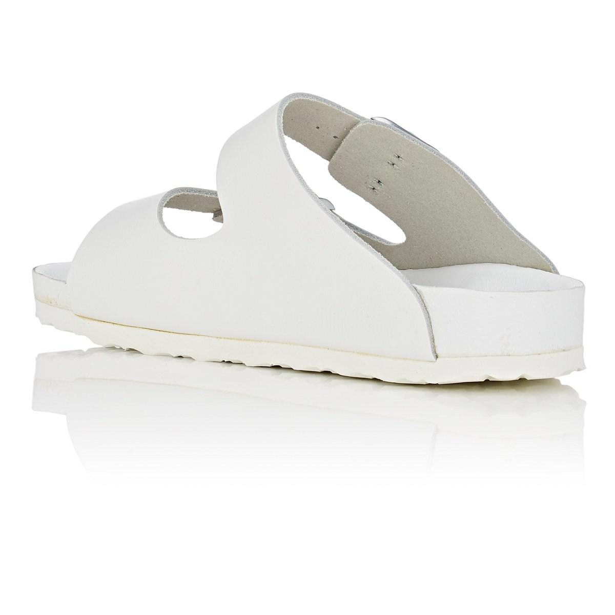 1e1b45101dd0 Birkenstock - White Monterey Leather Double-buckle Sandals - Lyst. View  fullscreen