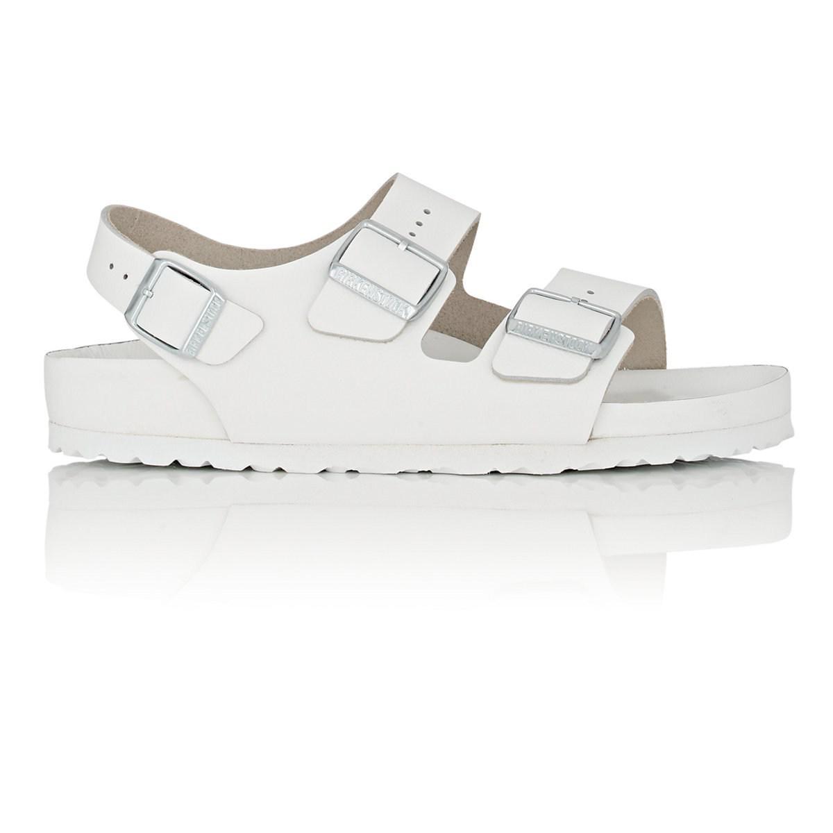 Birkenstock Milano Leather All White Sandals