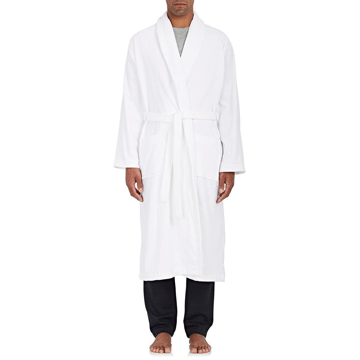 Lyst - Derek Rose Triton Cotton French Terry Velour Robe in White ... c43c07c2f